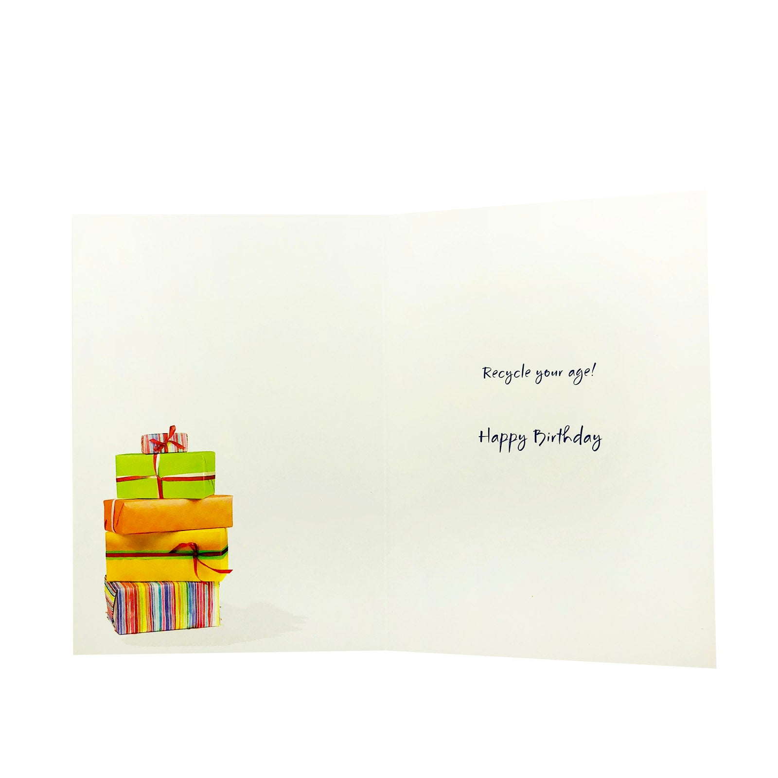 Designer Greetings Birthday Card - Environmentally Friendly Presents