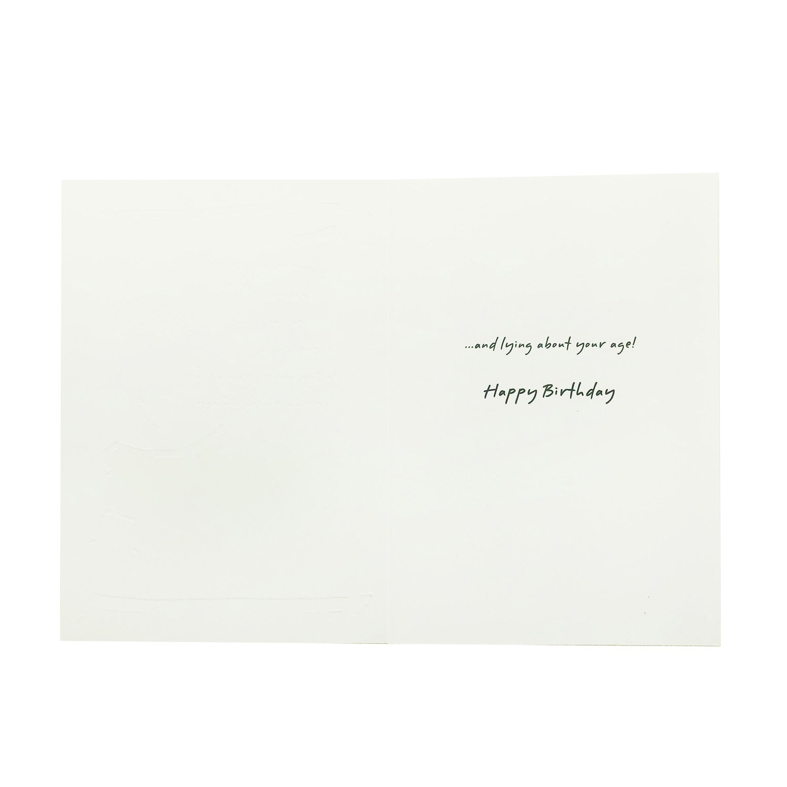 Designer Greetings Birthday Card - The Secret To Staying Young