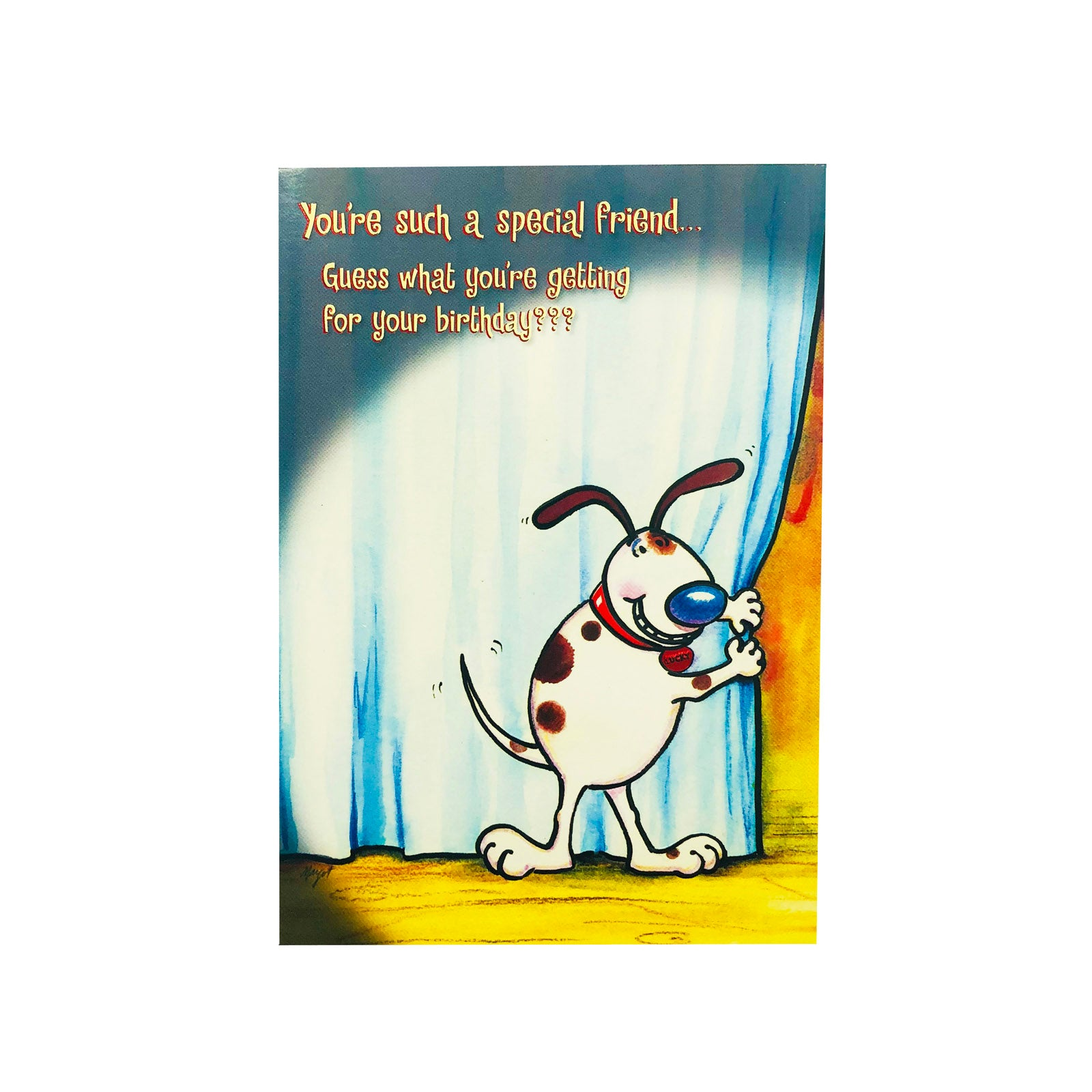 Designer Greetings Birthday Card - You're Such A Special Friend - Dog