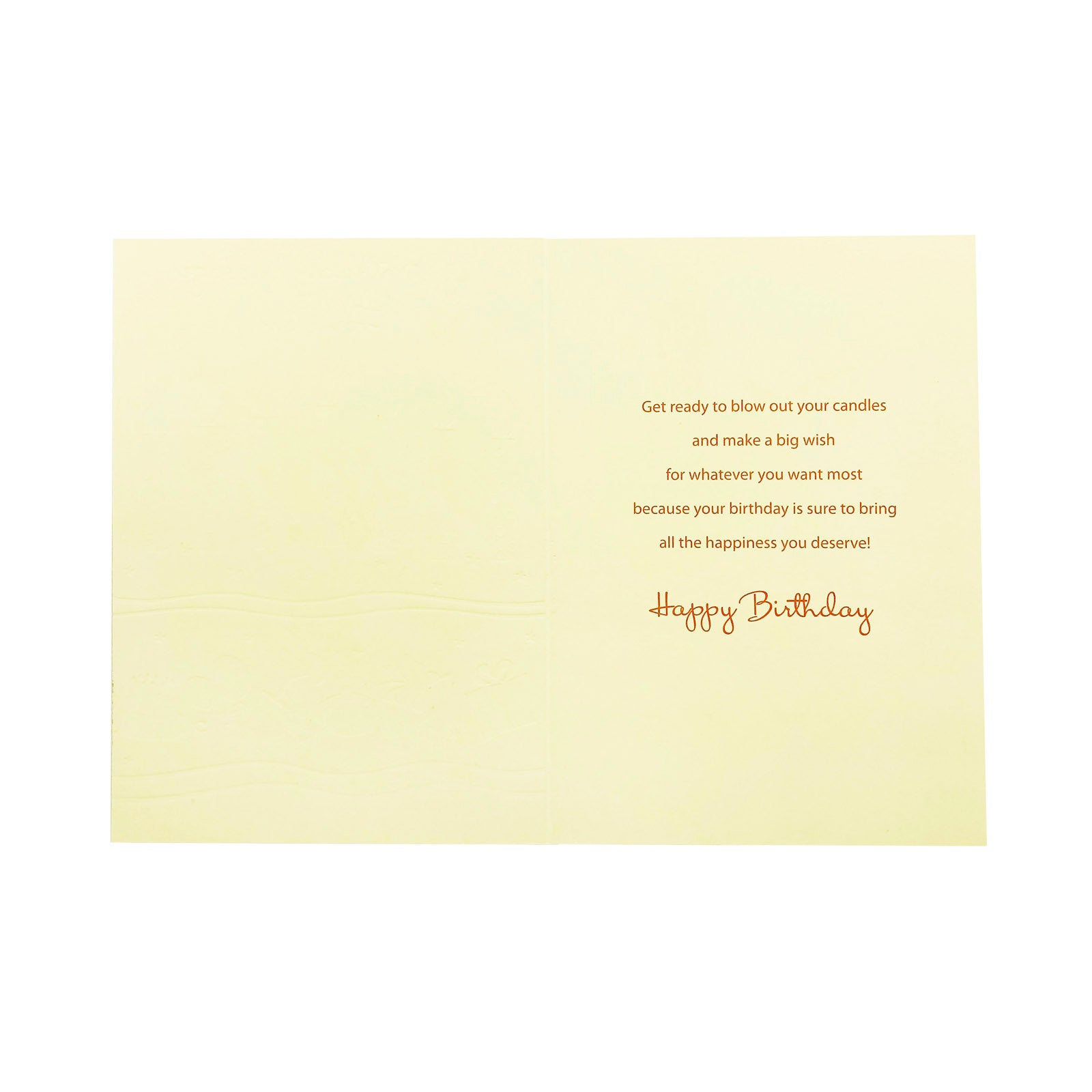 Designer Greetings Birthday Card - A Birthday Message For You - Candles