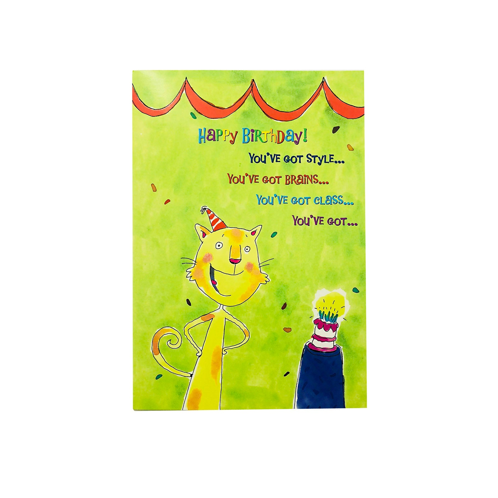 Designer Greetings Birthday Card - You've Got Style - Cat