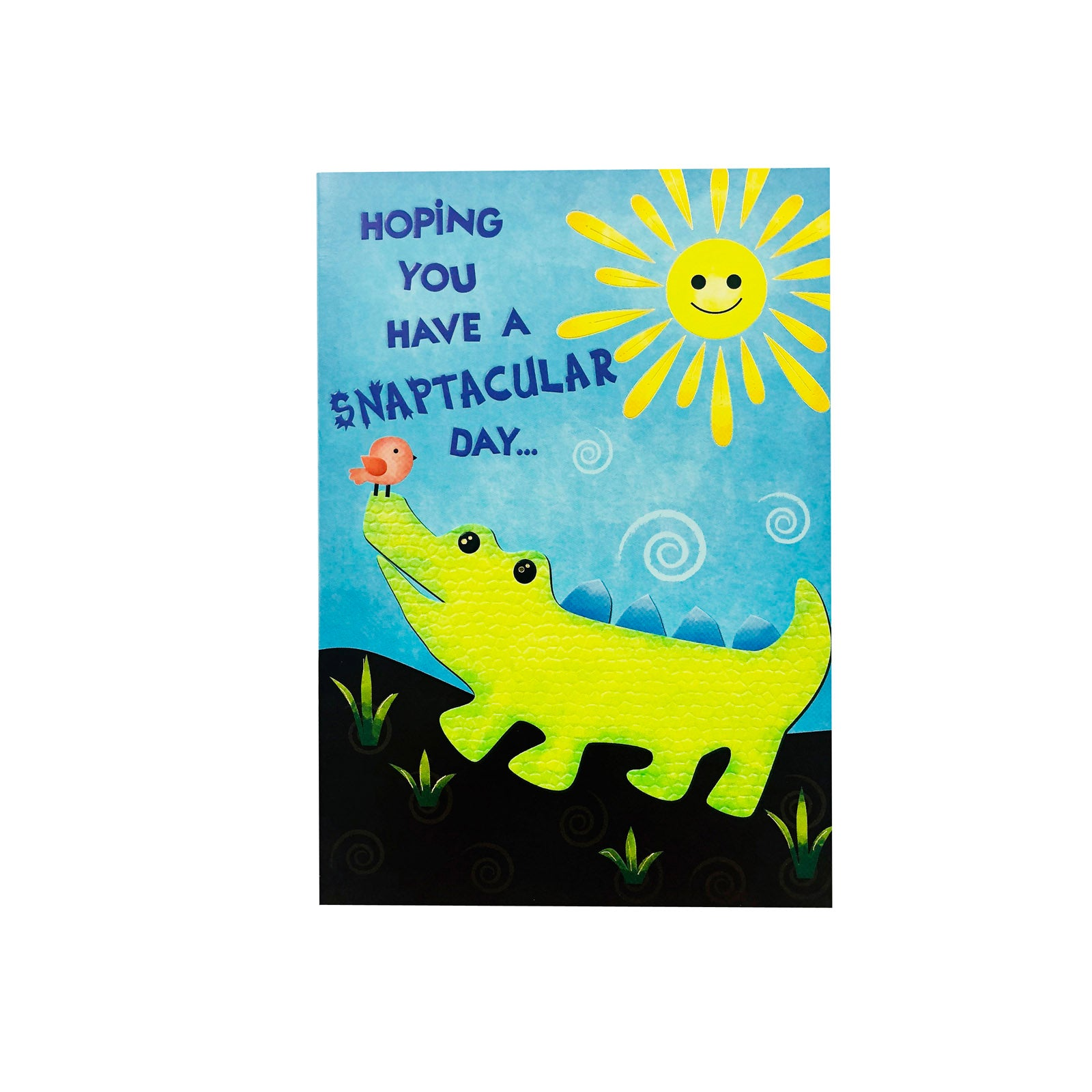 Designer Greetings Birthday Card - Snaptacular Day - Crocodile