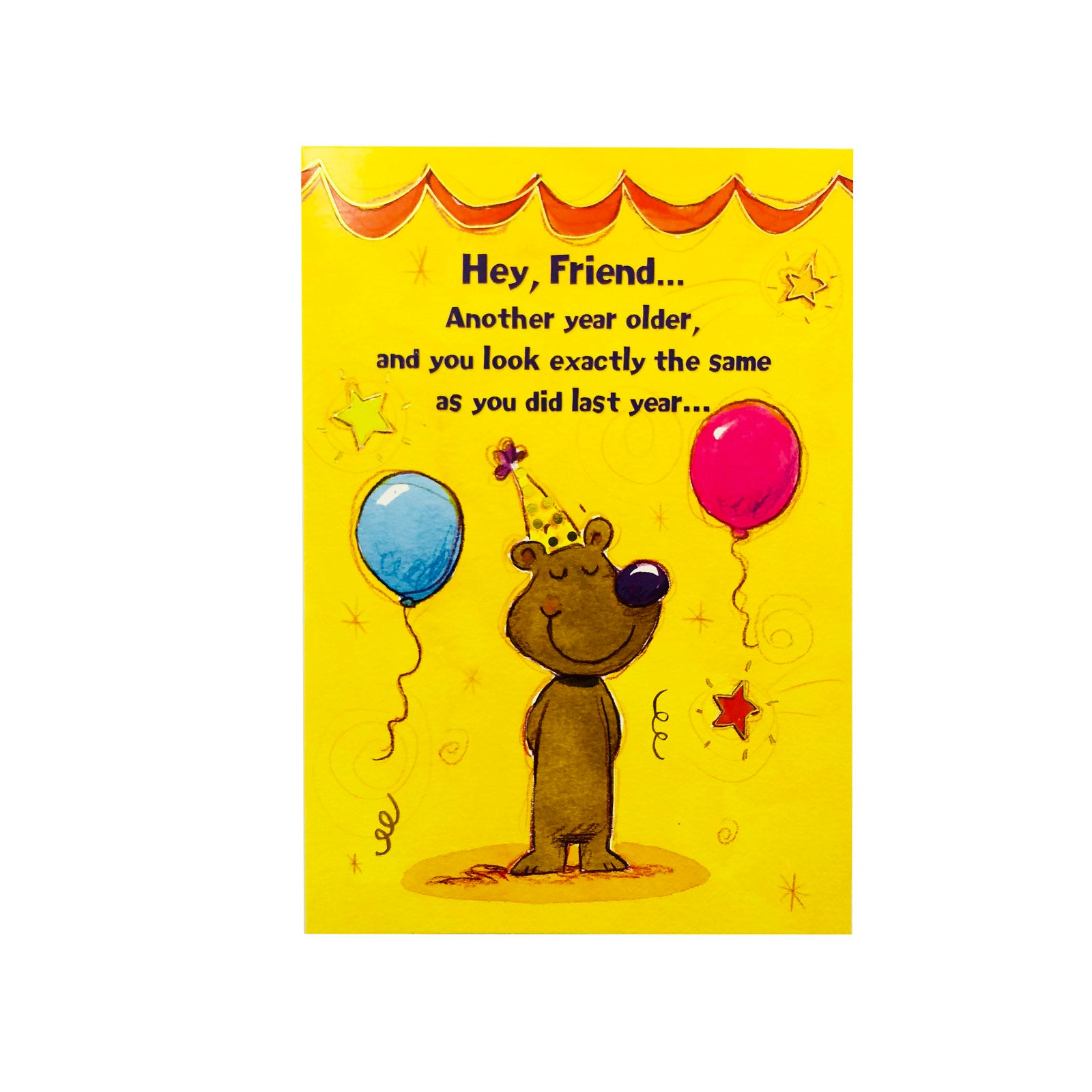 Designer Greetings Birthday Card - Another Year Older - Bear