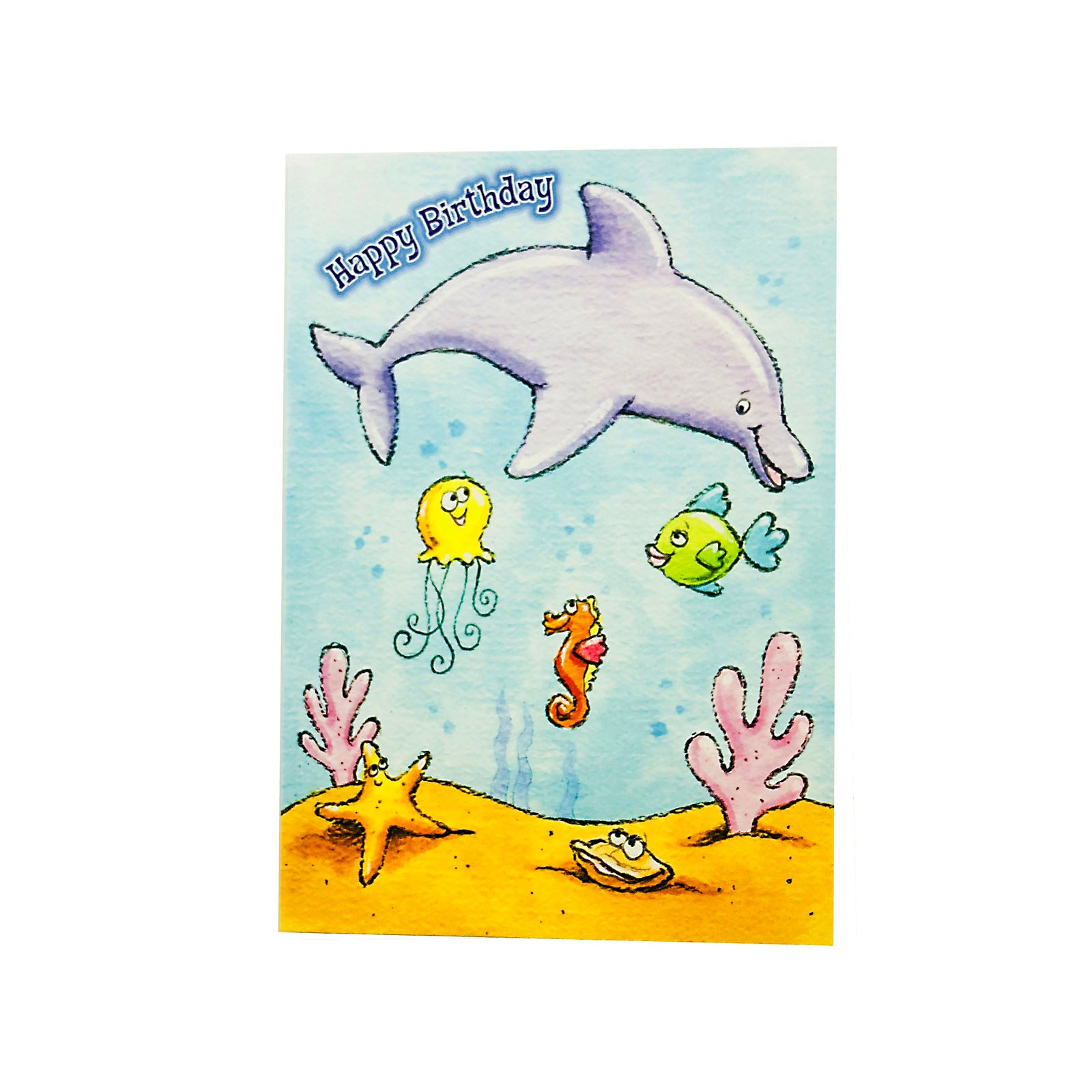 Designer Greetings Birthday Card - Happy Birthday - Dolphin