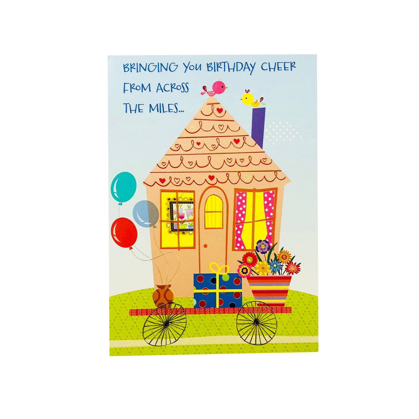 Designer Greetings Birthday Card - Bringing You Birthday Cheer - House