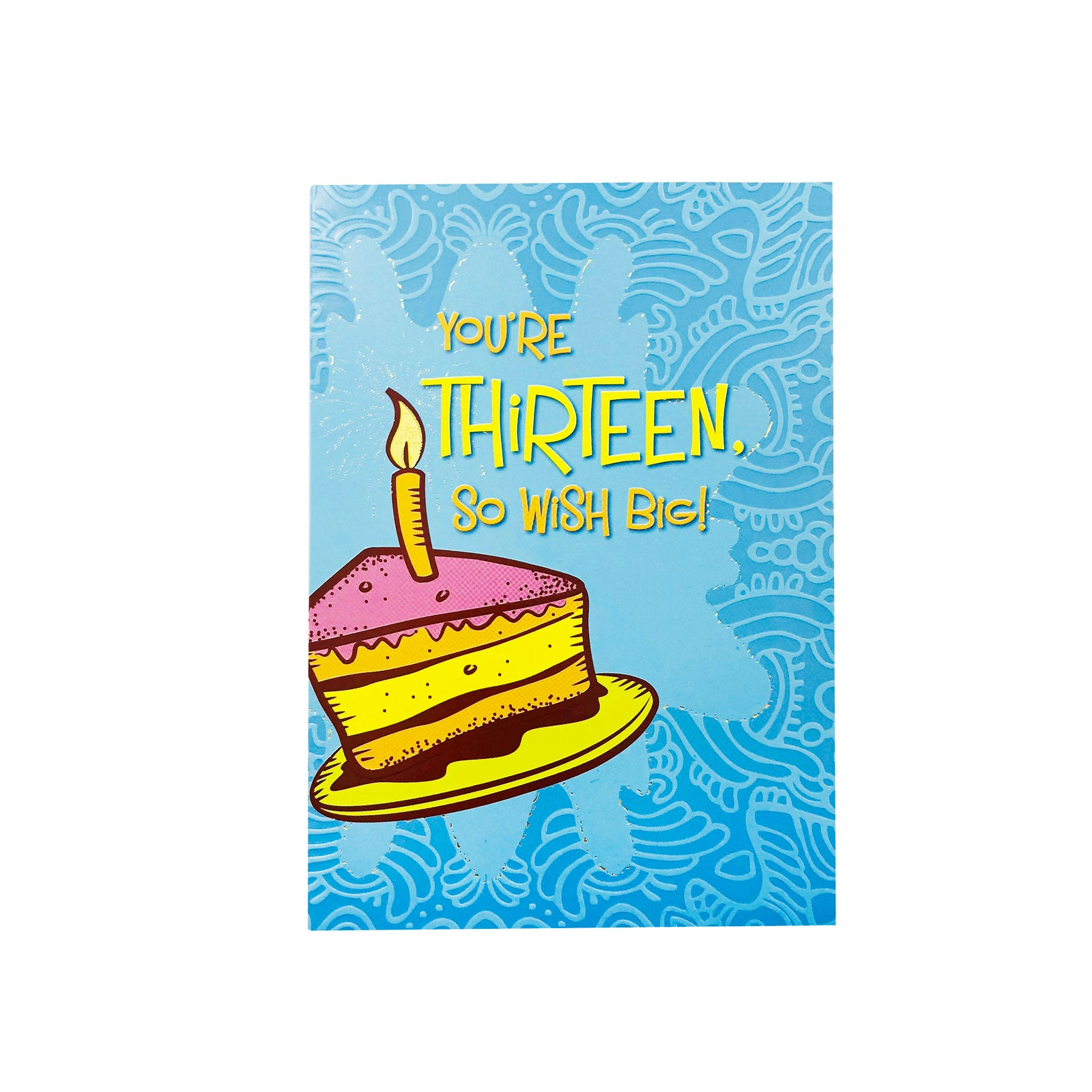 Designer Greetings Birthday Card Age 13 - You're 13 - Cake Slice