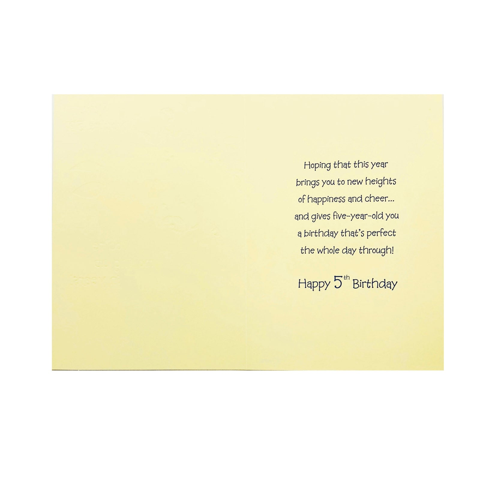 Designer Greetings Birthday Card Age 5 - Wow You're 5? - Tree