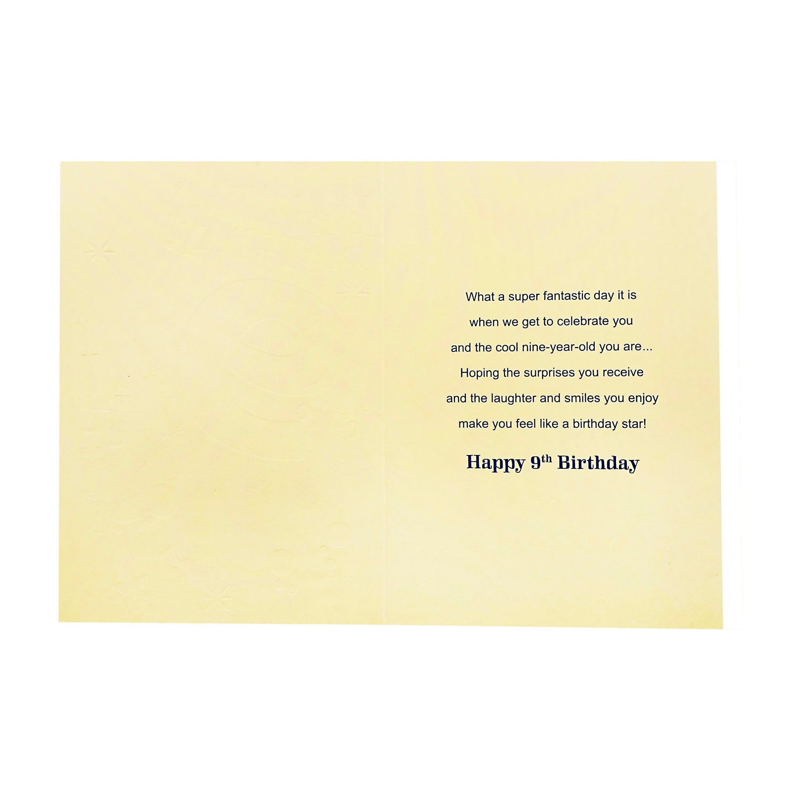 Designer Greetings Birthday Card Age 9 - Let's Celebrate Your Birthday - 9