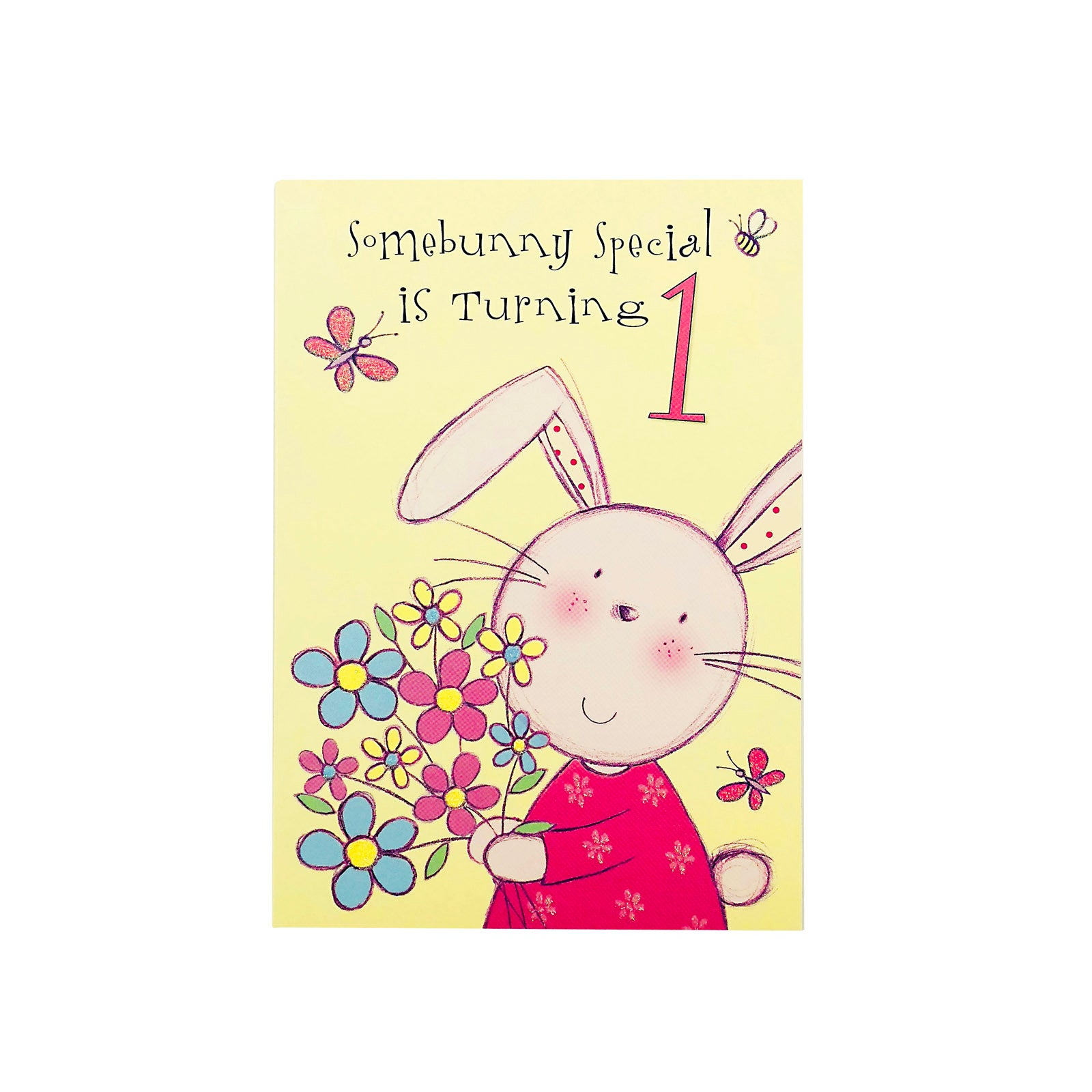 Designer Greetings Birthday Card Age 1 - Somebunny Special Is Turning 1