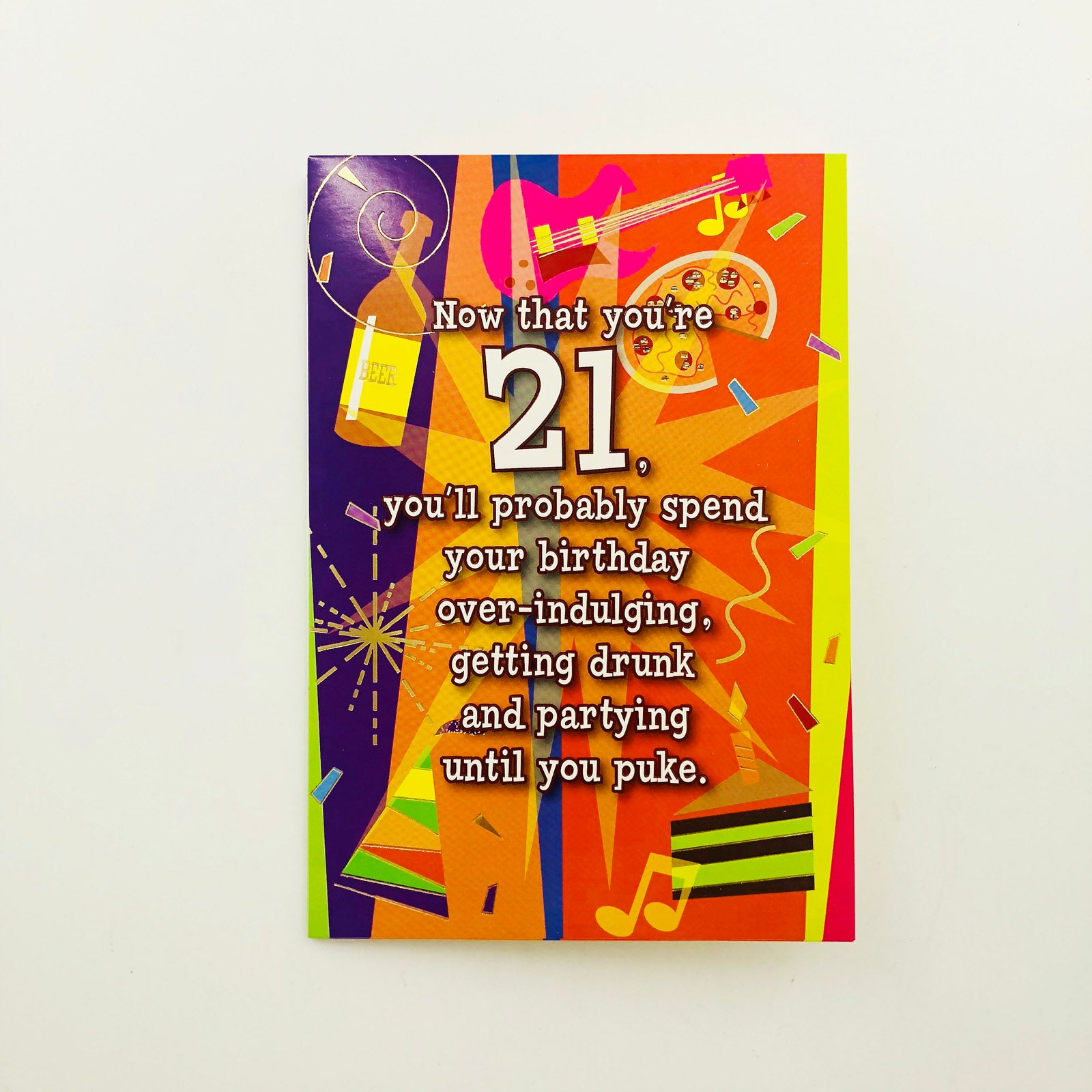 Designer Greetings Birthday Card Age 21 - Now That You're 21