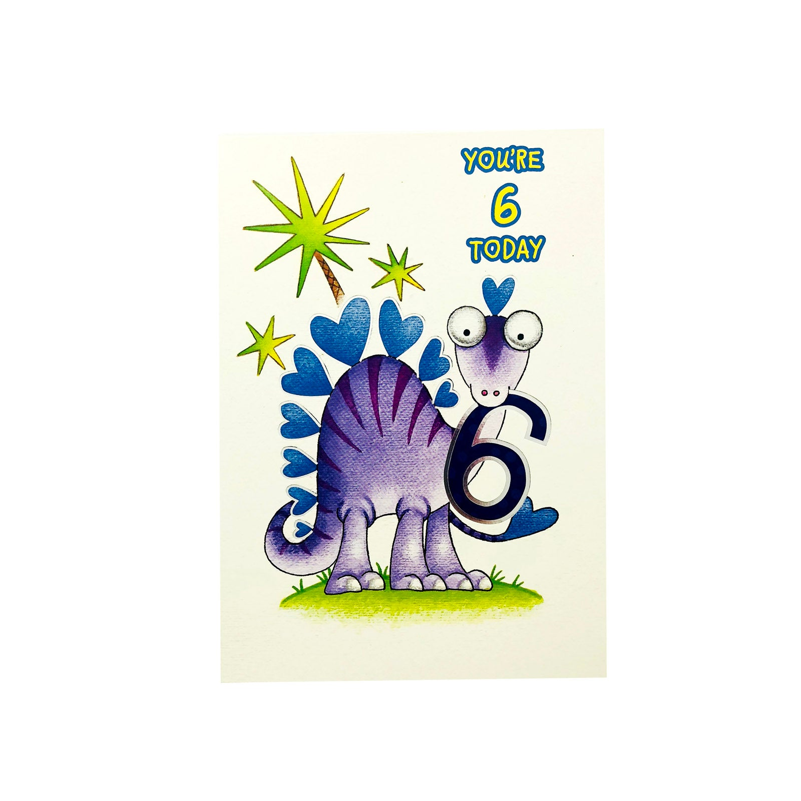 Designer Greetings Birthday Card Age 6 - You're 6 - Dino