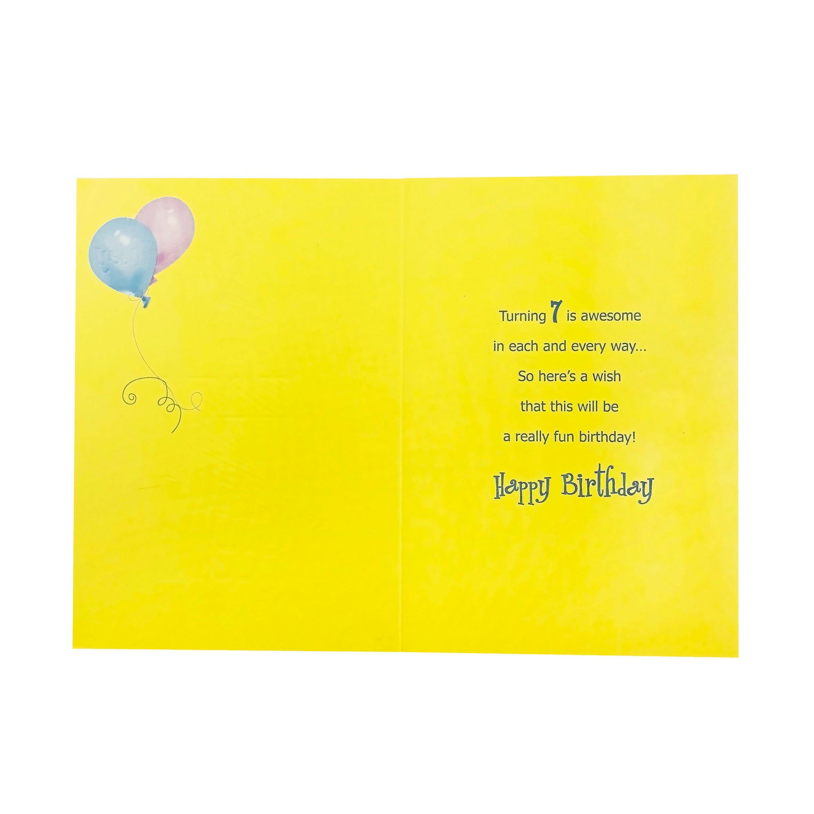 Designer Greetings Birthday Card Age 7 - Happy 7th Birthday - Bear
