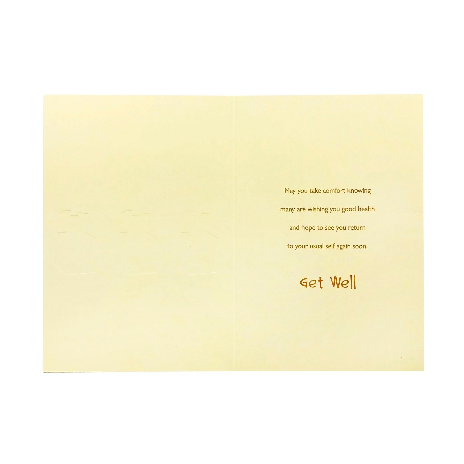Designer Greetings Get Well Card - Feeling Better Already - Tissues