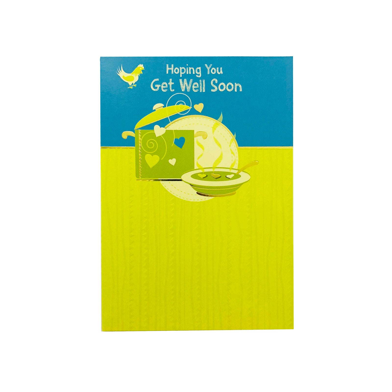 Designer Greetings Get Well Card - Hoping You Get Well Soon - Soup