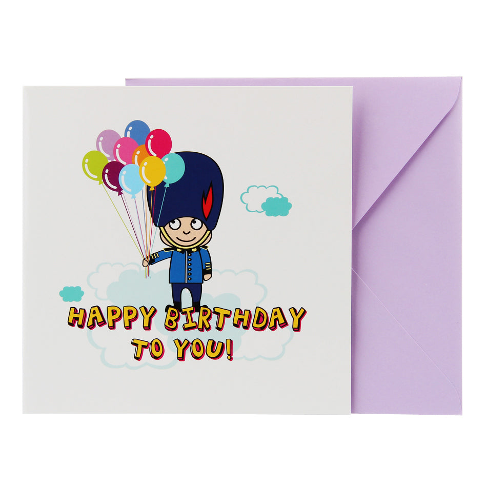Birthday Card - Toy Soldier Balloons