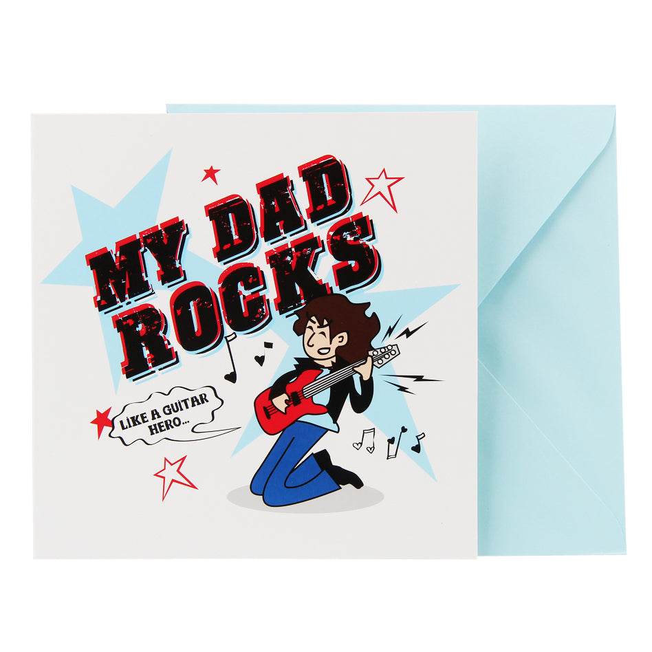 Dad Card - Guitar Rocks