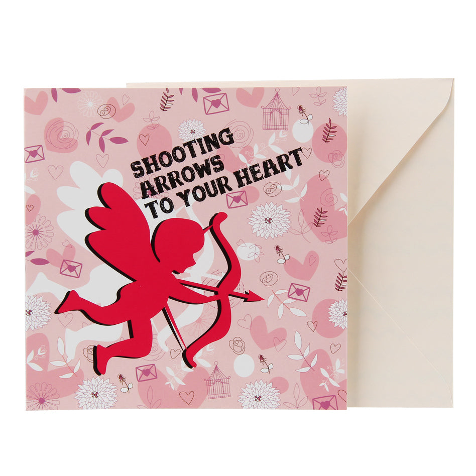 Love Card - Shooting Arrows Cupid