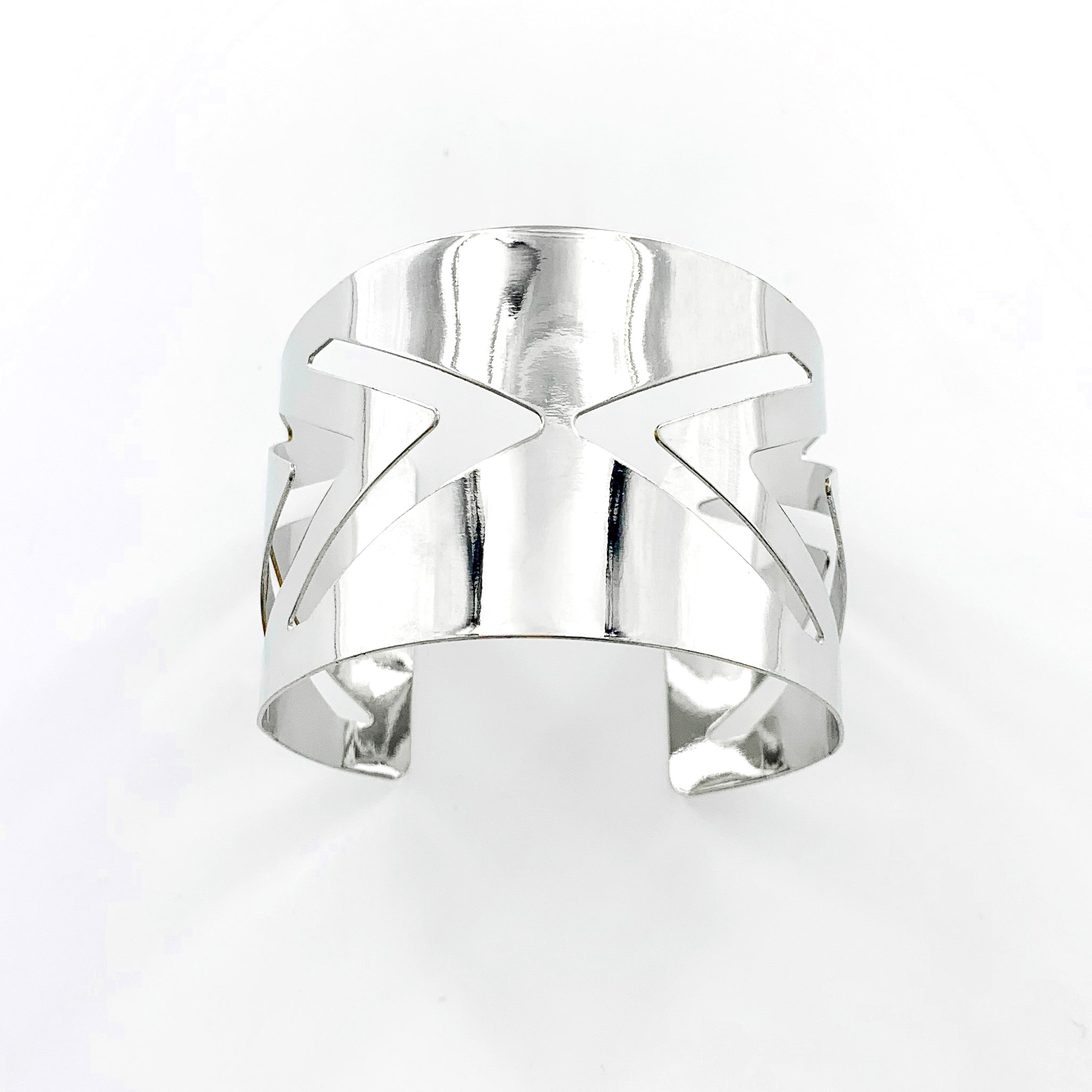 Silver Cuff with Arrow Cut-outs