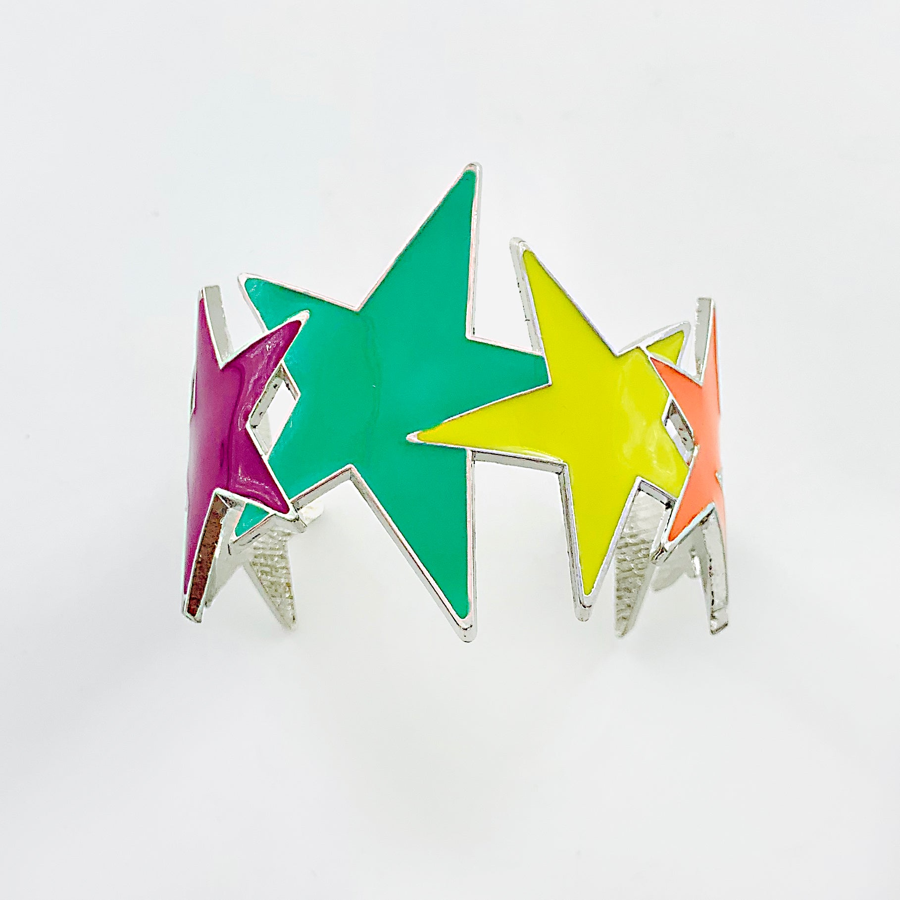 Cuff with colourful star-shapes
