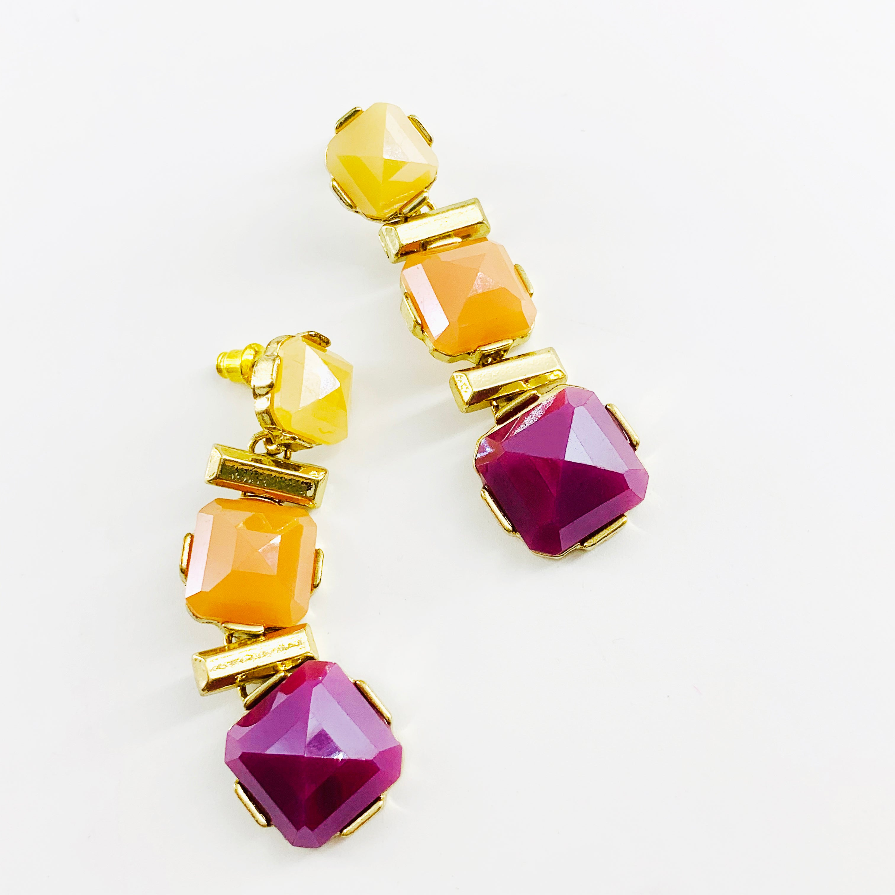 Yellow, orange and purple stones
