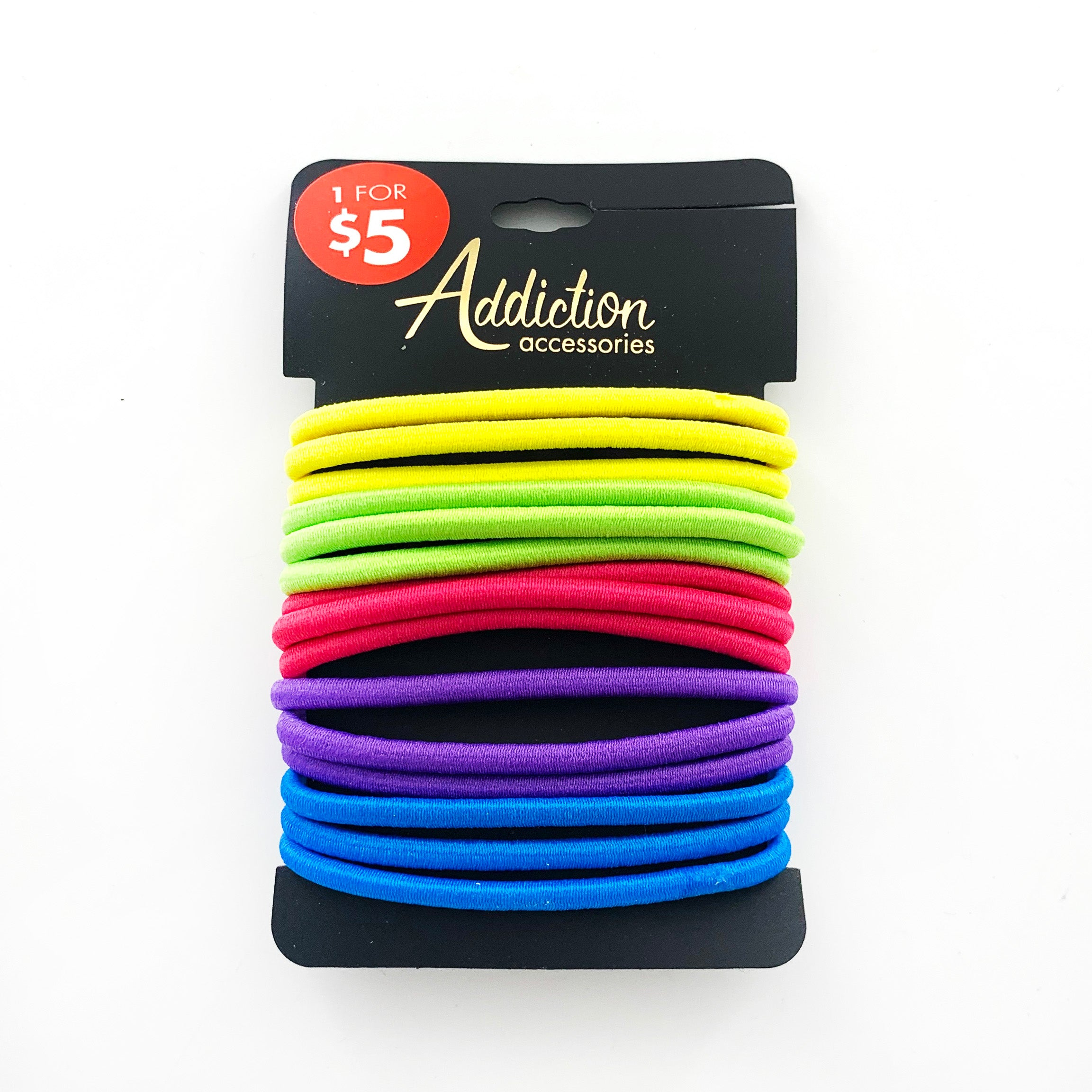 Rubber bands in rainbow colours
