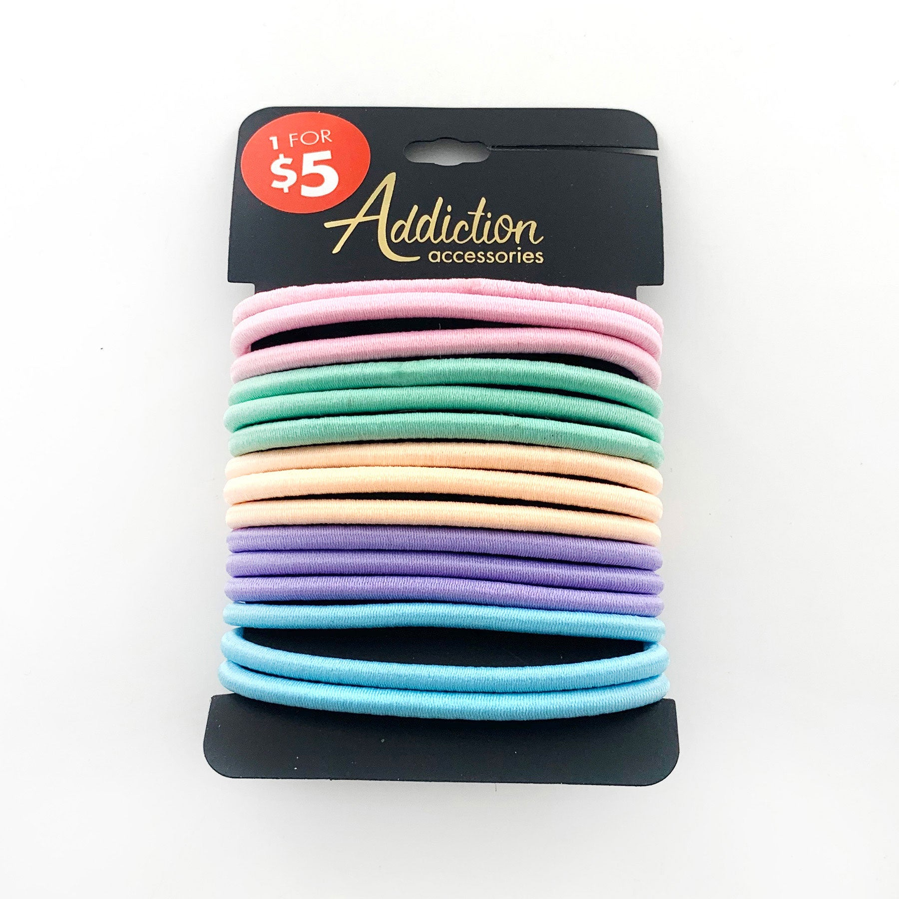 Rubber bands in pastel colours