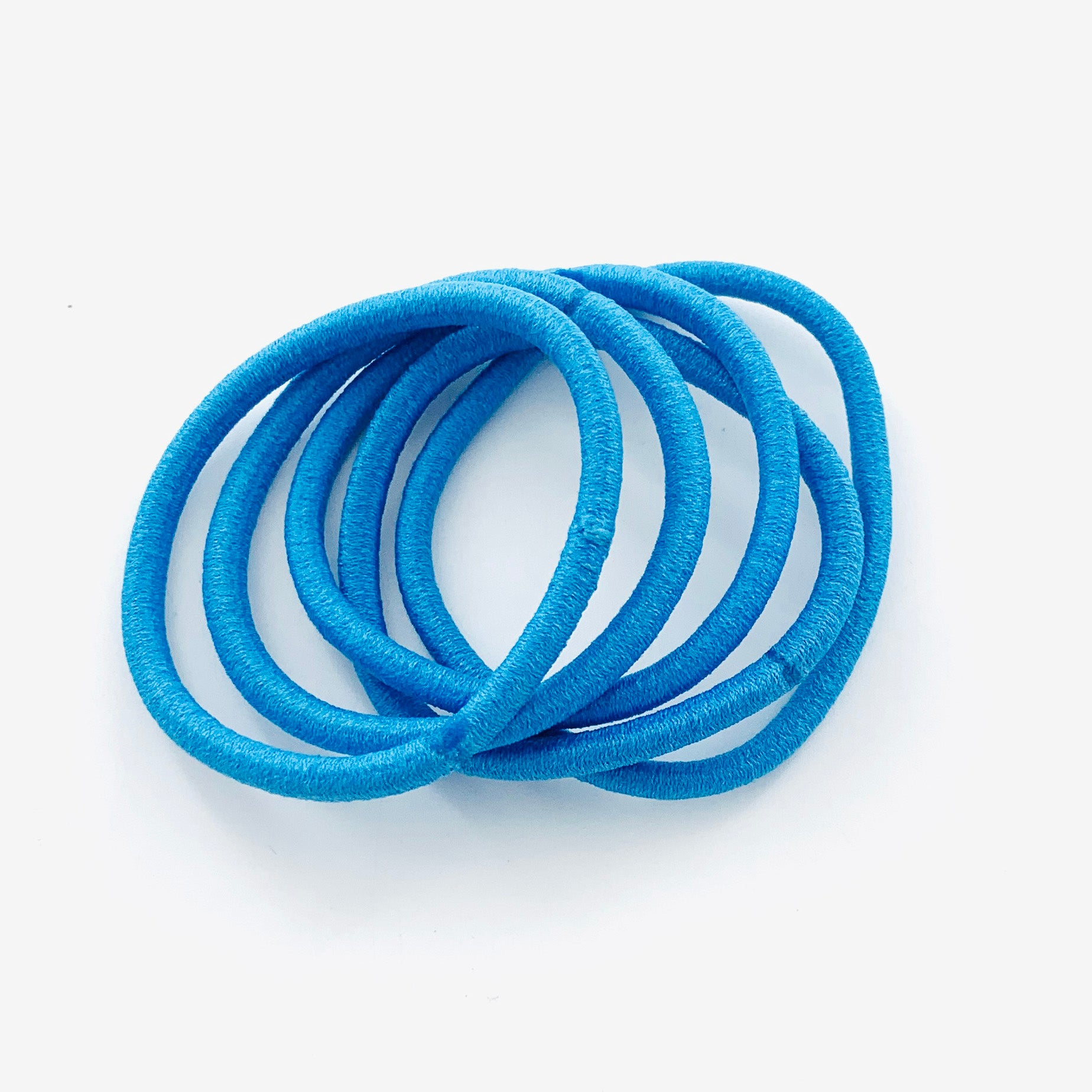 Rubber bands in blue