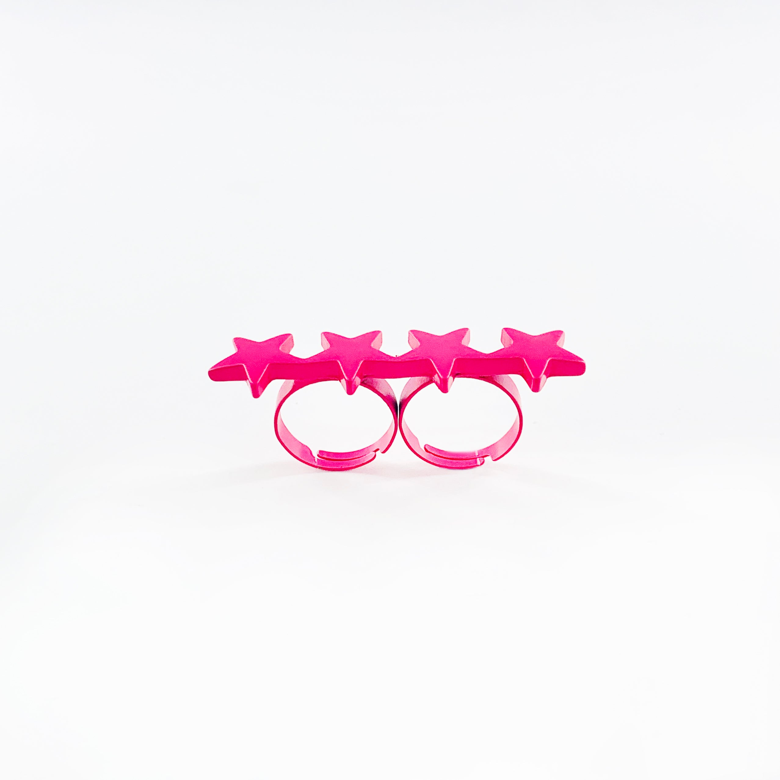 Hot pink ring with stars