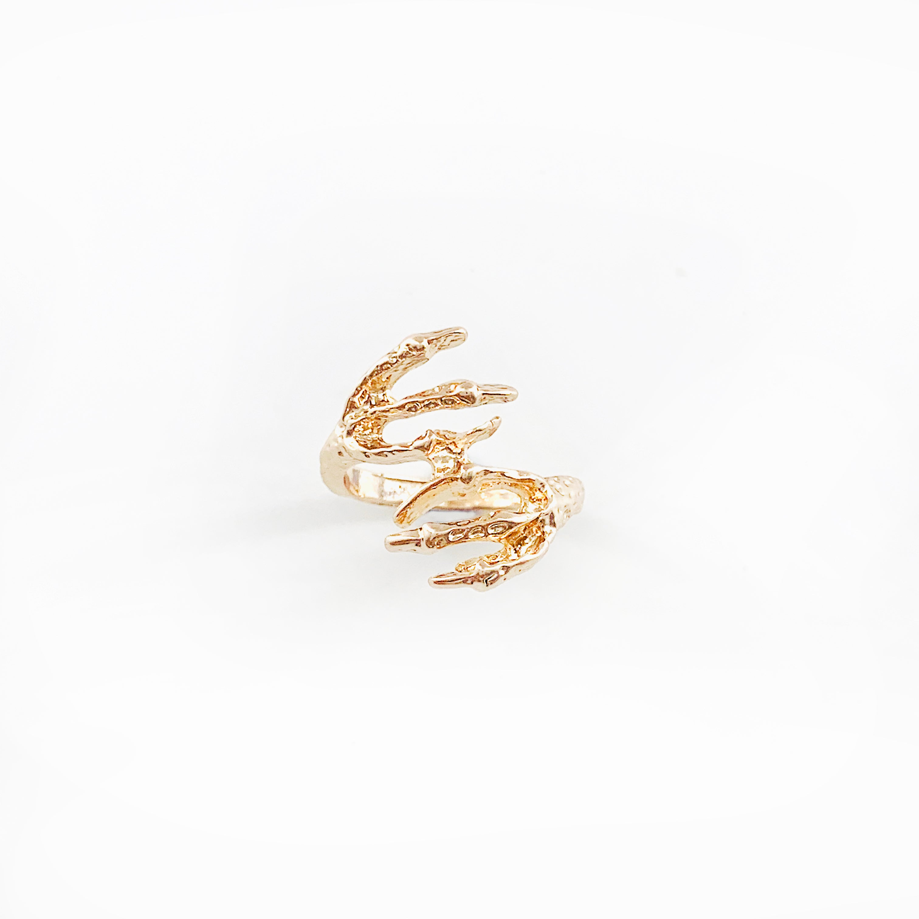 Rose gold claw ring