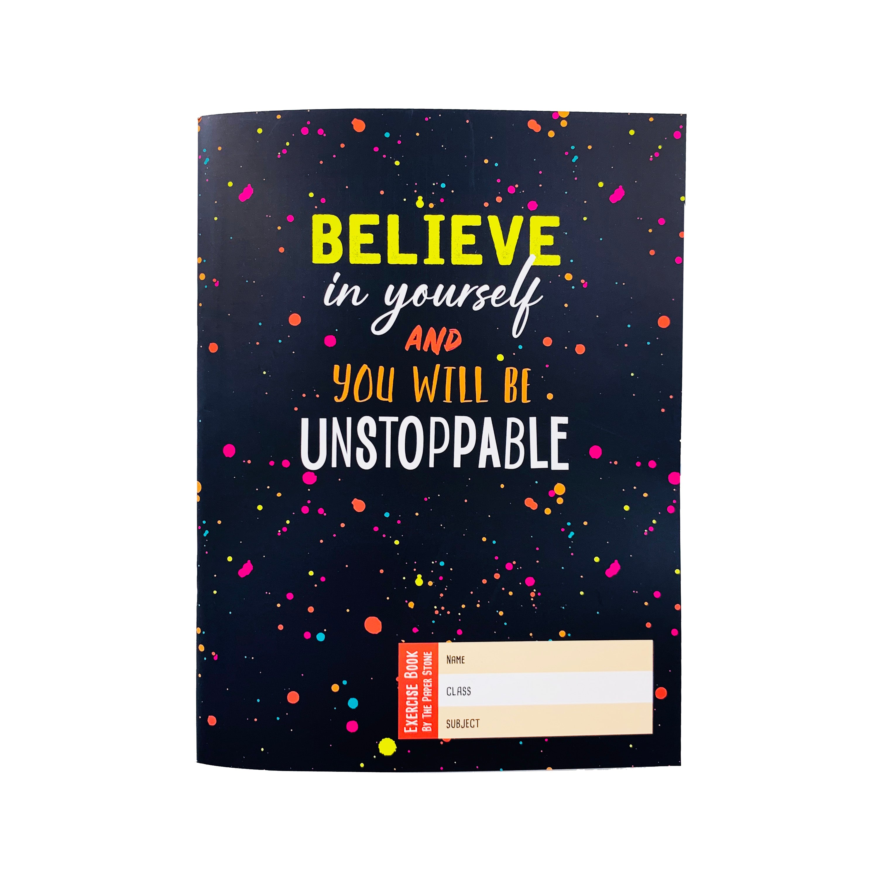 Exercise Book - Believe in Yourself Specks