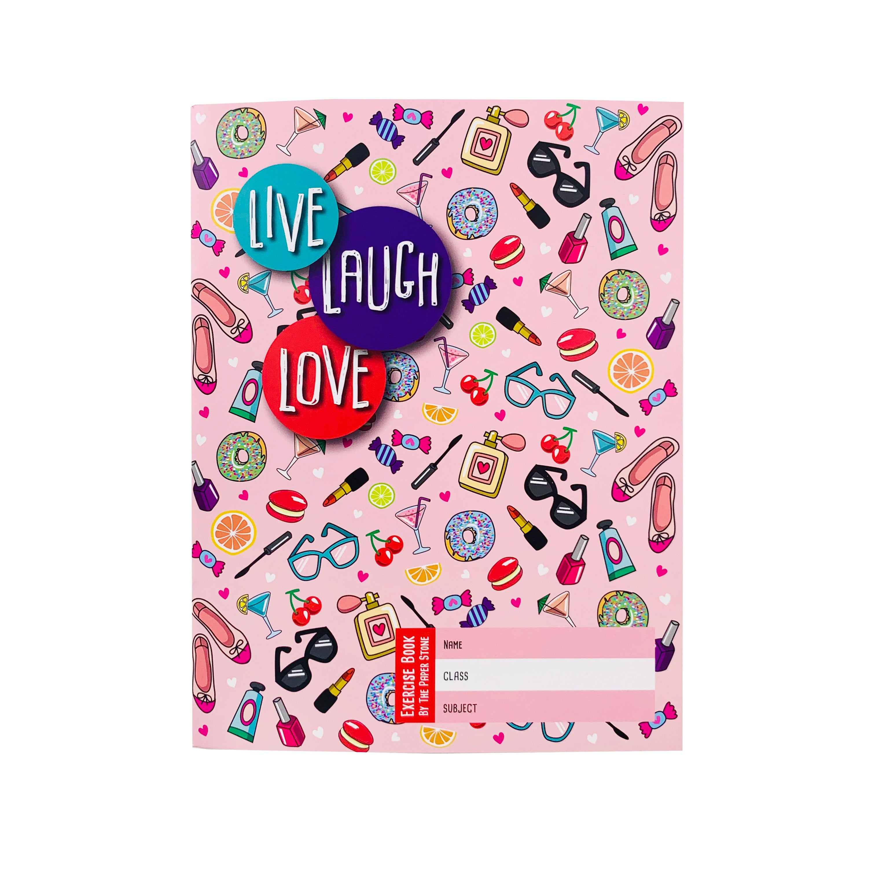 Exercise Book - Live Laugh Love