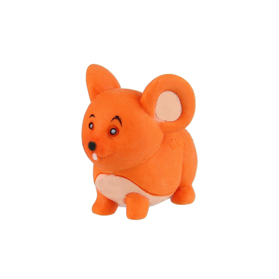 Animal Eraser - Mouse - Orange