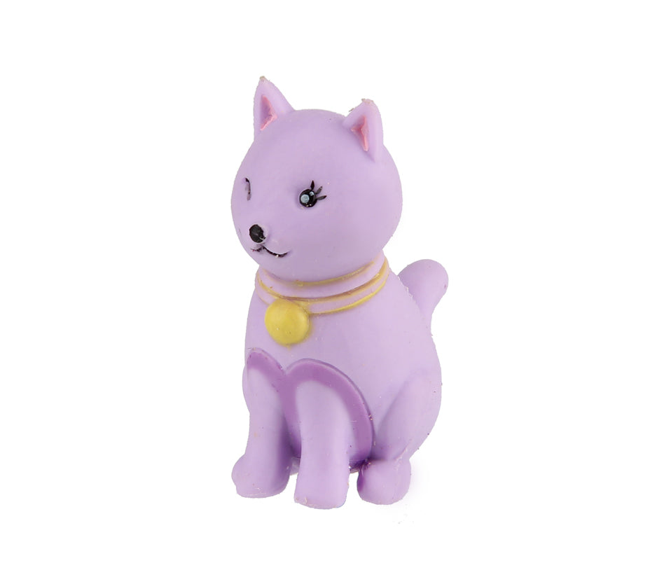 Animal Eraser - Cat - Purple
