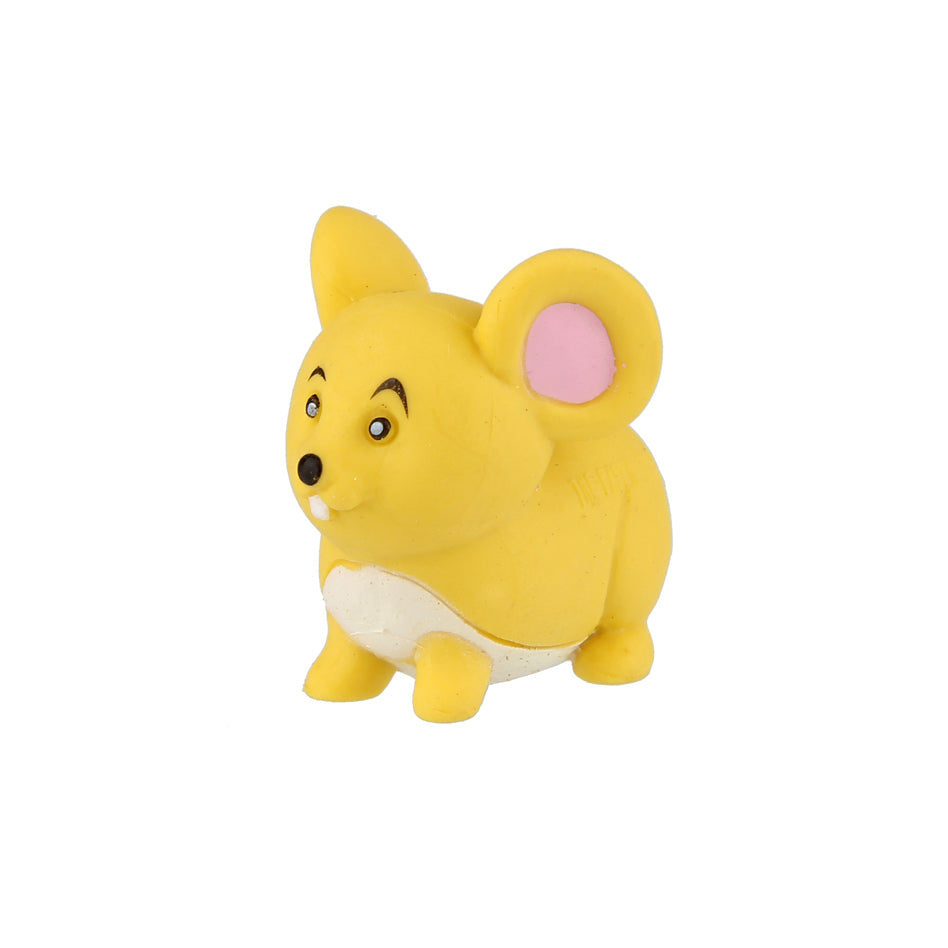 Animal Eraser - Mouse - Yellow