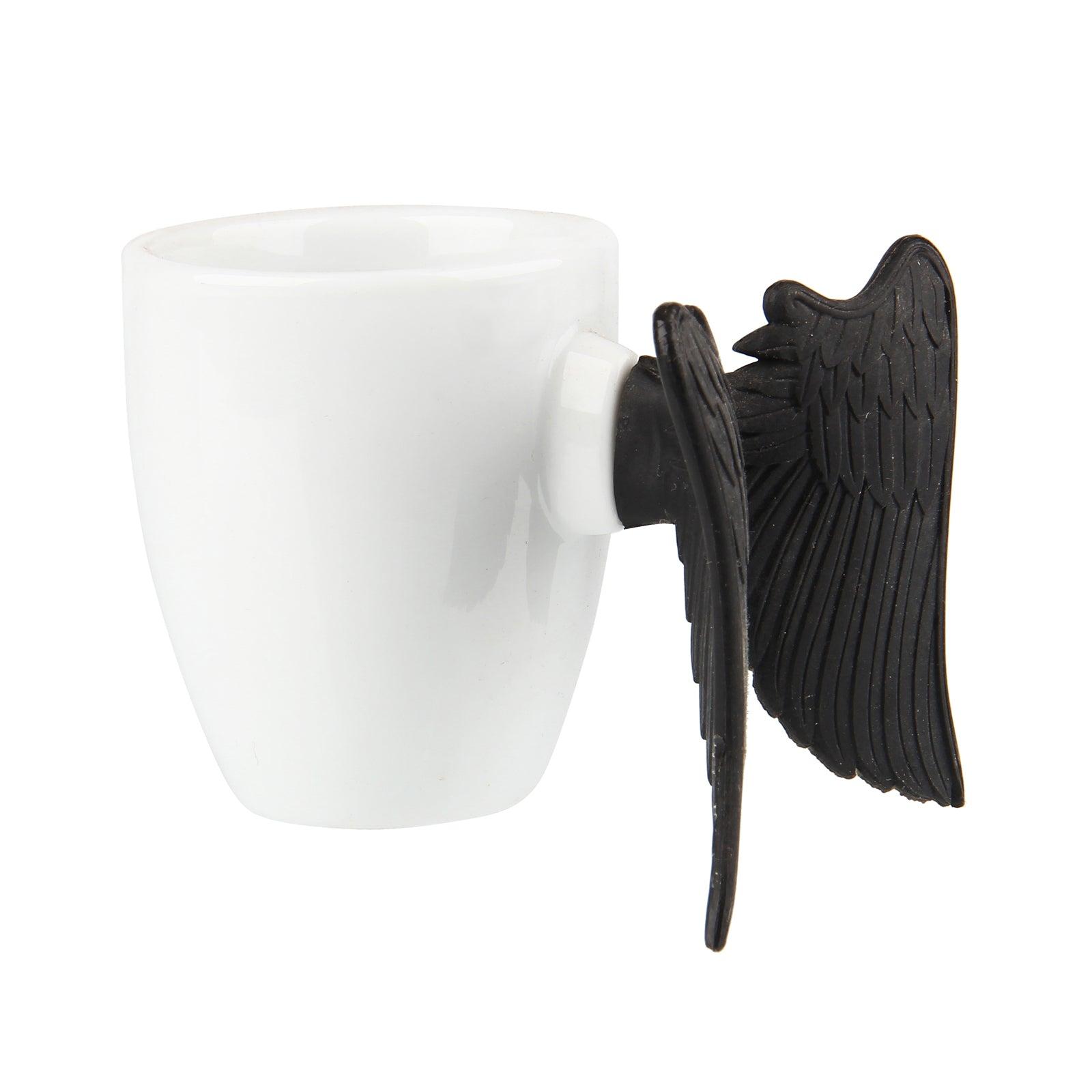 Inspirational Angel Cup - Let Your Light Shine - Black Wings
