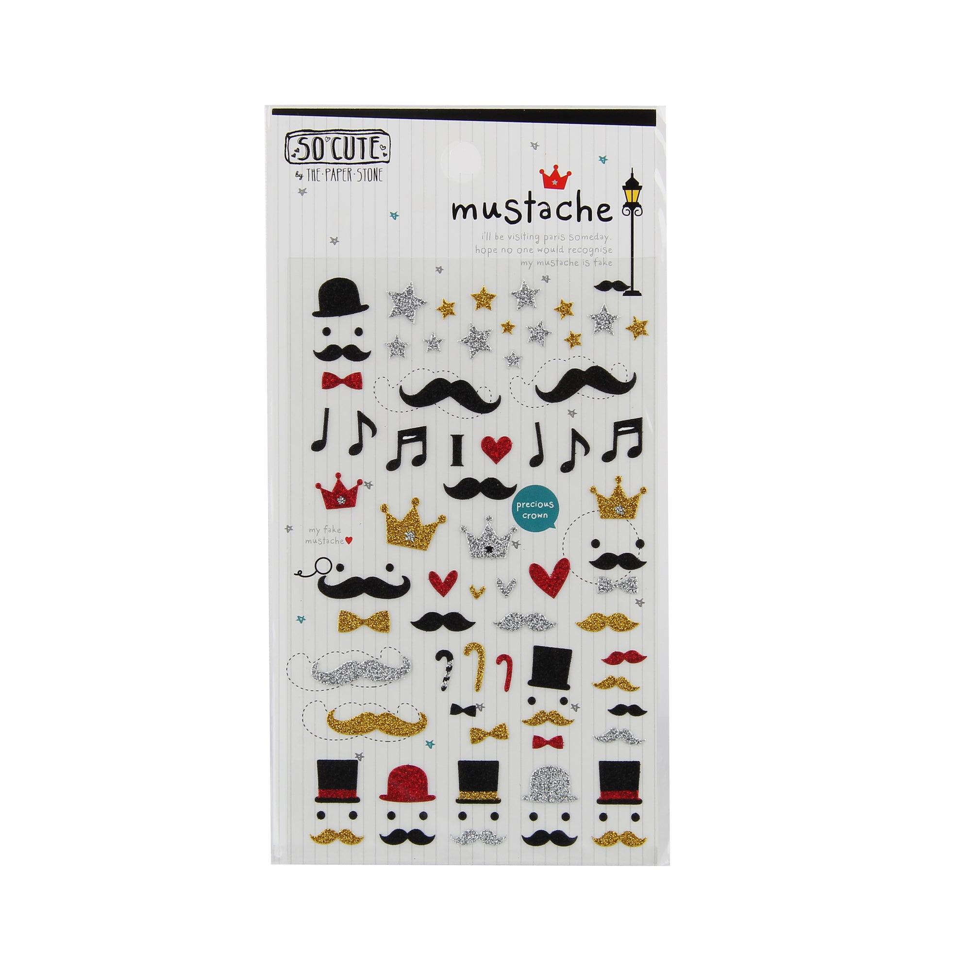 So-Cute Stickers - Mustache and Hats