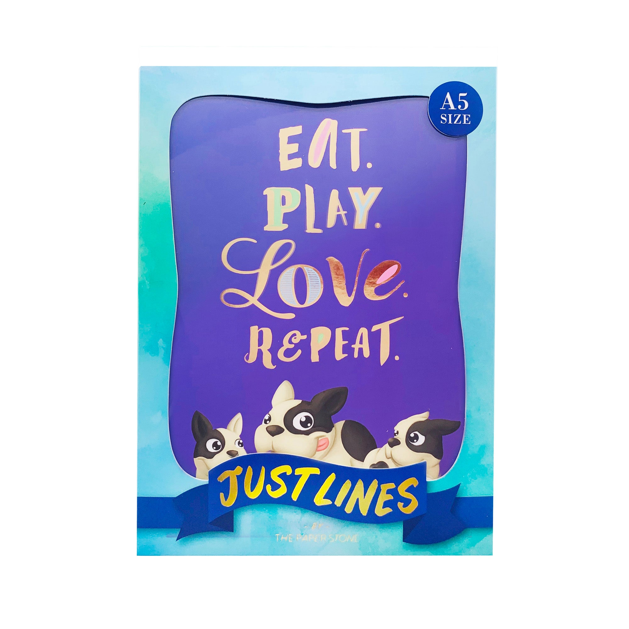 Just Lines - Eat Play Love Frenchie
