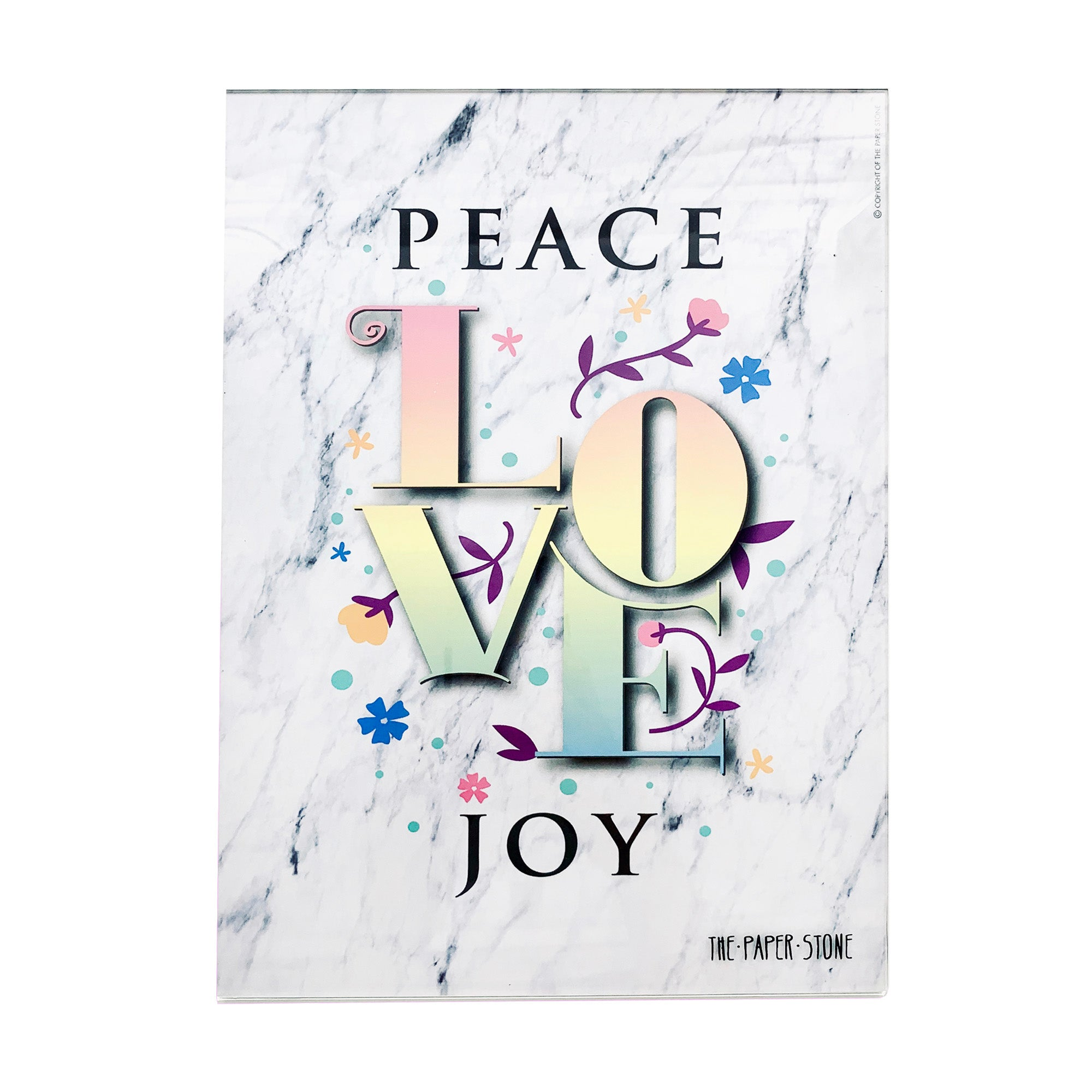 Acrylic Art - Peace Love Joy