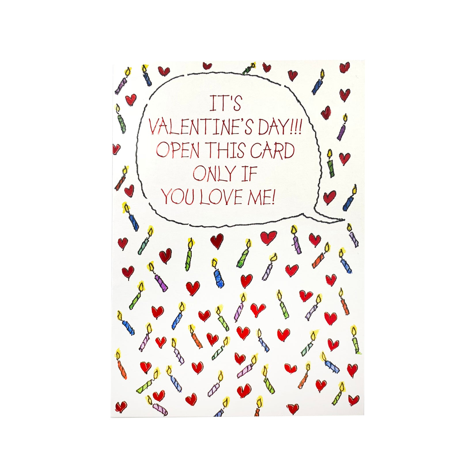 Designer Greetings Valentine's Day Card - Open This Card Candles
