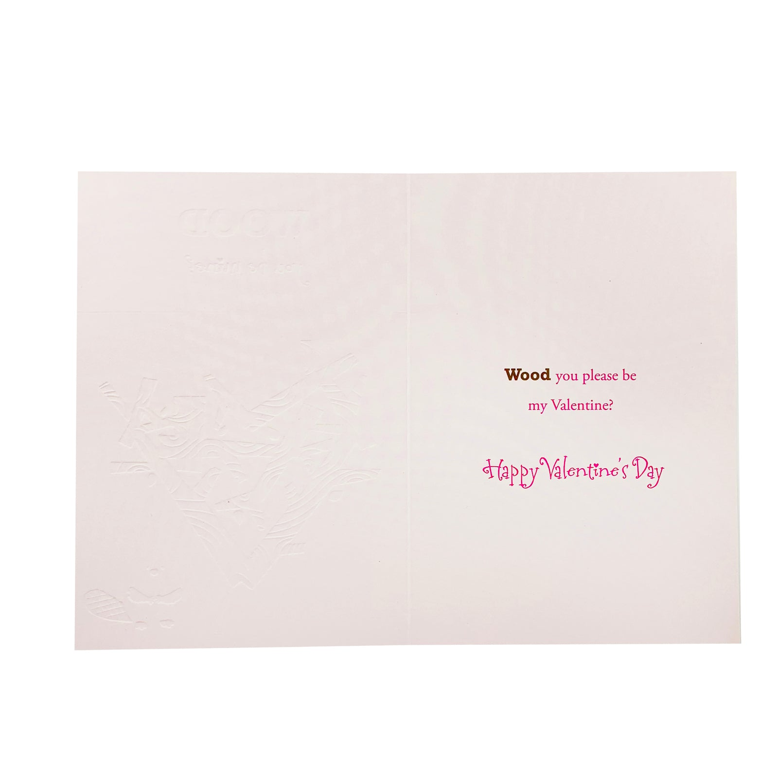 Designer Greetings Valentine's Day Card - Wood You Be Mine