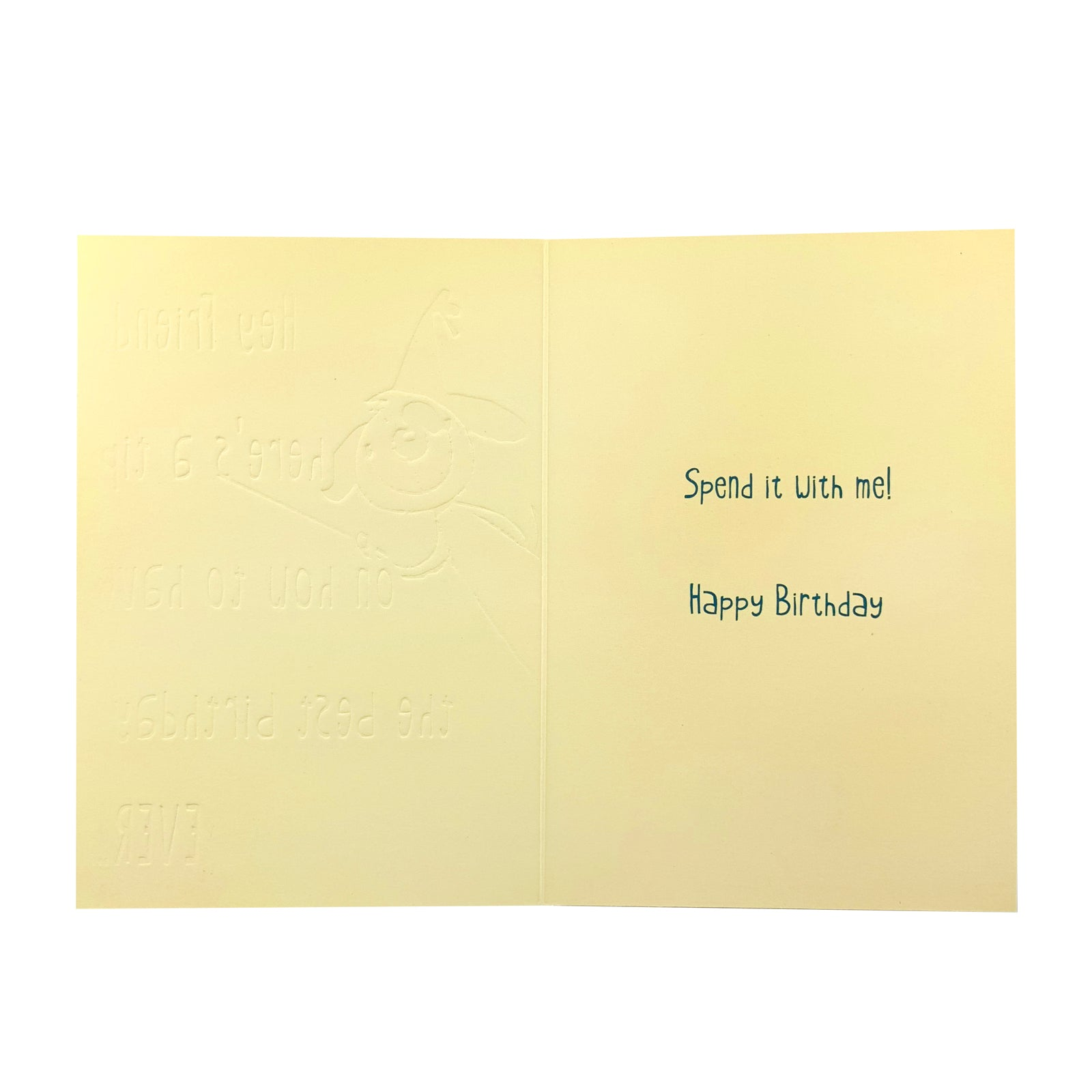 Designer Greetings Birthday Card - Hey Friend Here's A Tip Dog