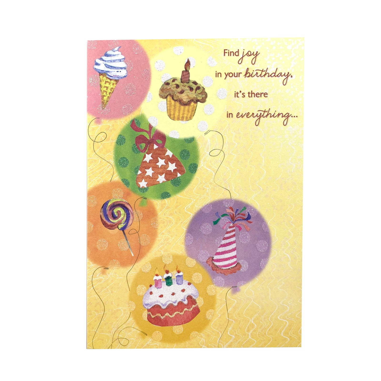Designer Greetings Birthday Card - Find Joy In Your Birthday
