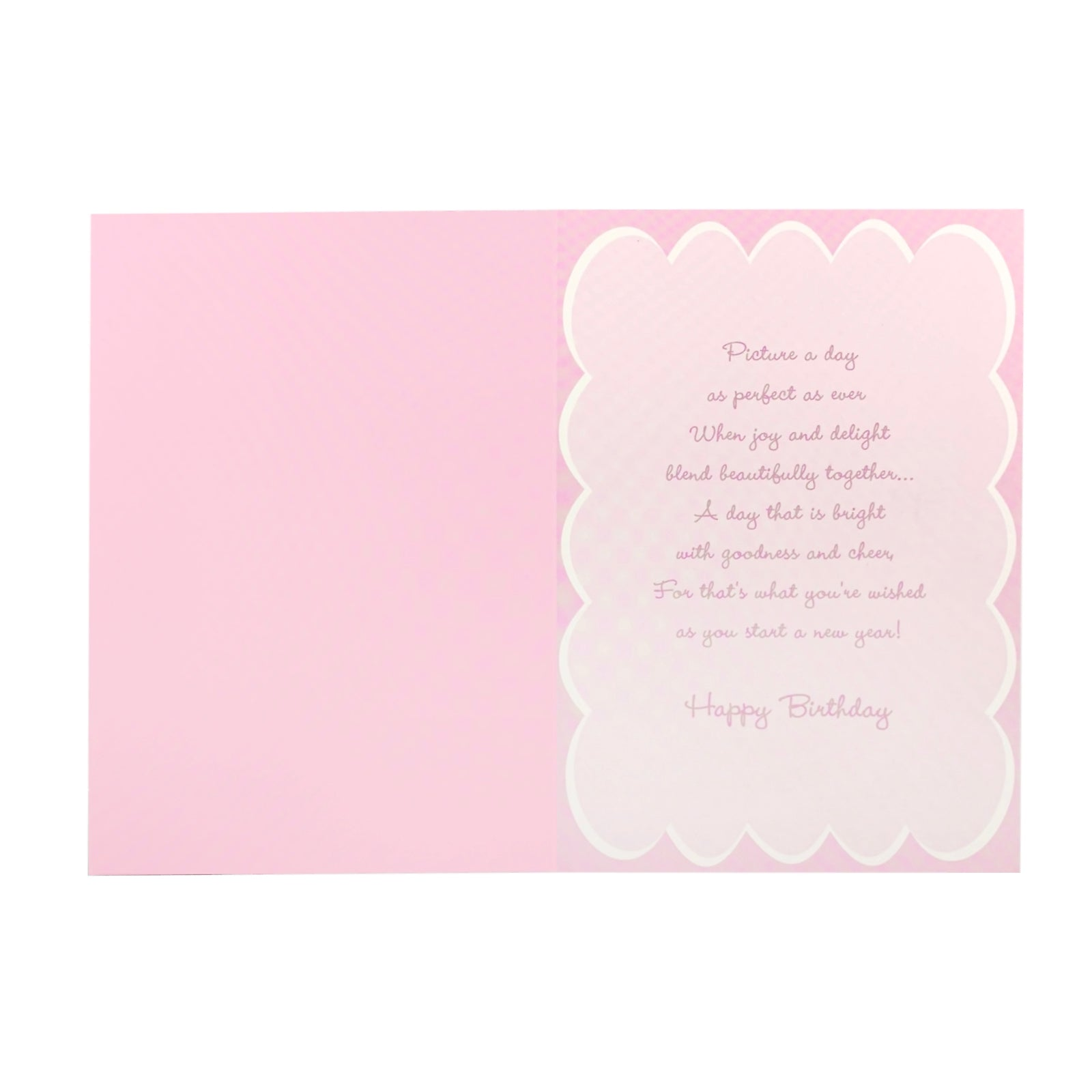 Designer Greetings Birthday Card - Wonderful Birthday Pink