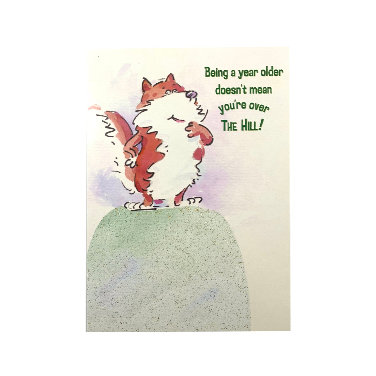 Designer Greetings Birthday Card - Over The Hill Fox