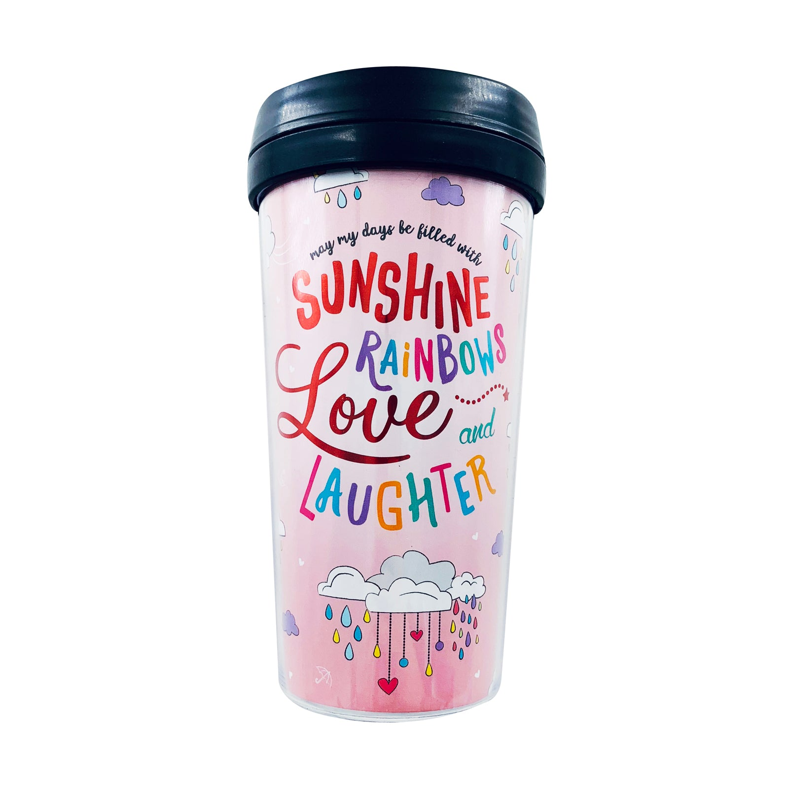 Tumbler - Sunshine Rainbows Pink