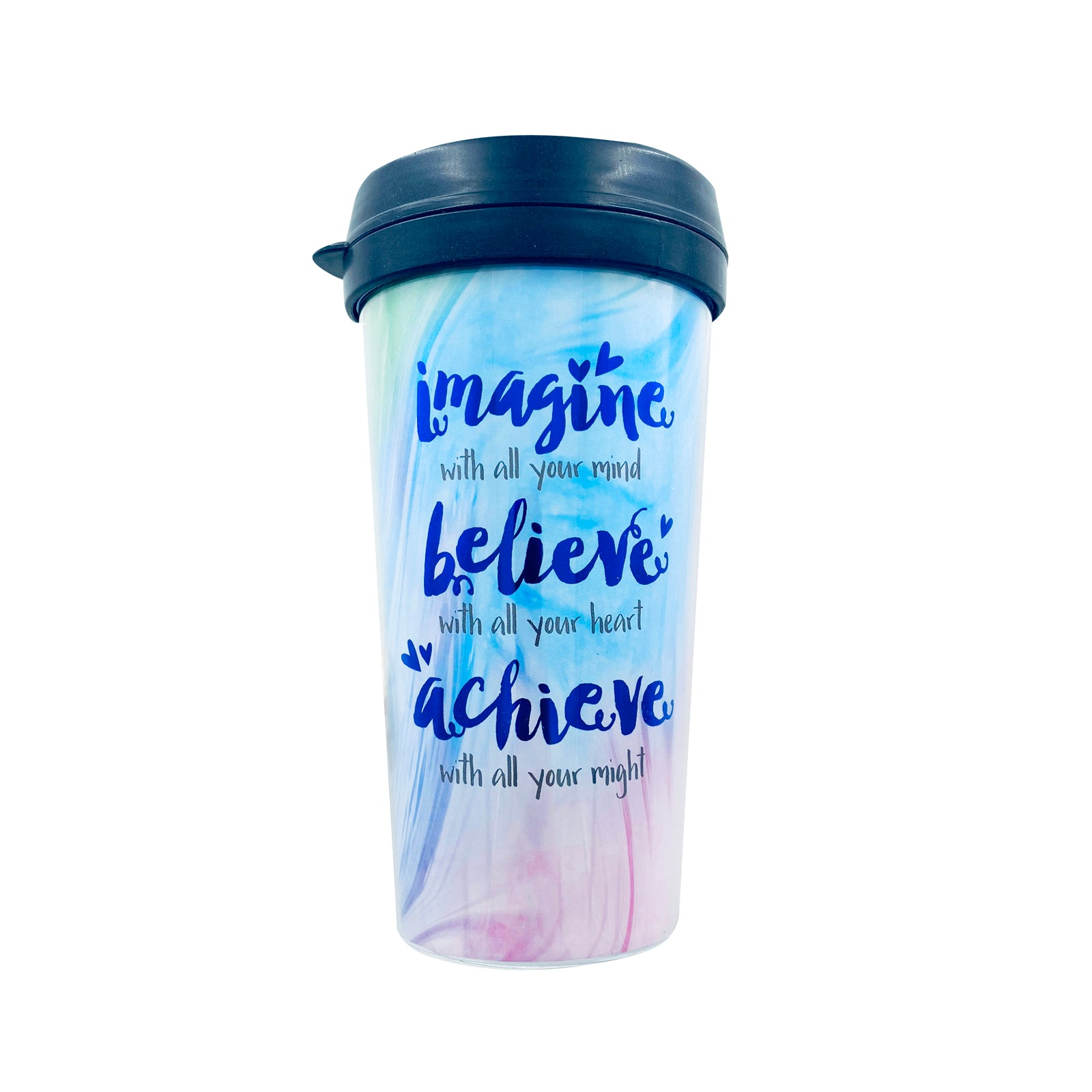 Tumbler - Imagine Believe Rainbow
