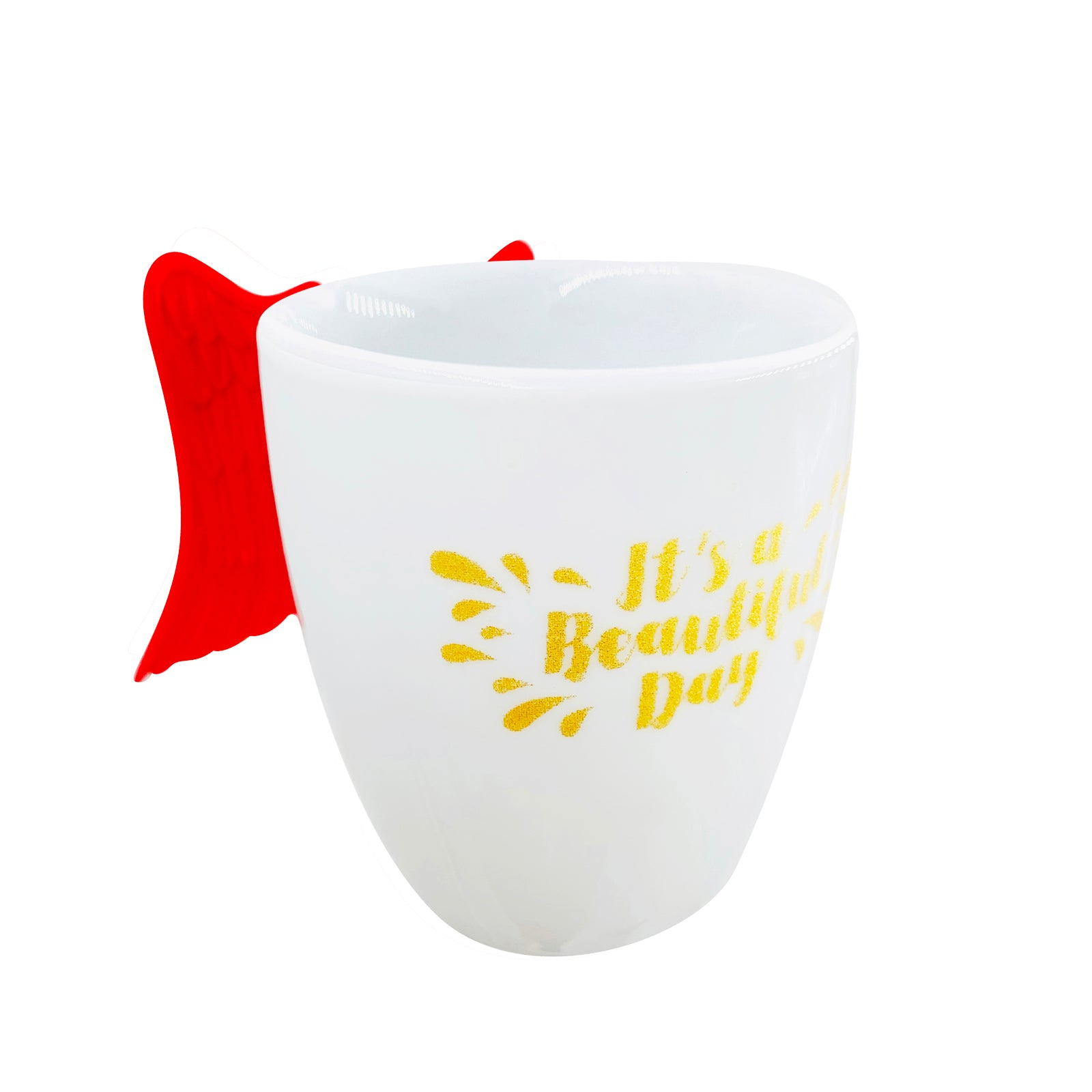 Inspirational Pen Cup - Beautiful Day- Red Wings