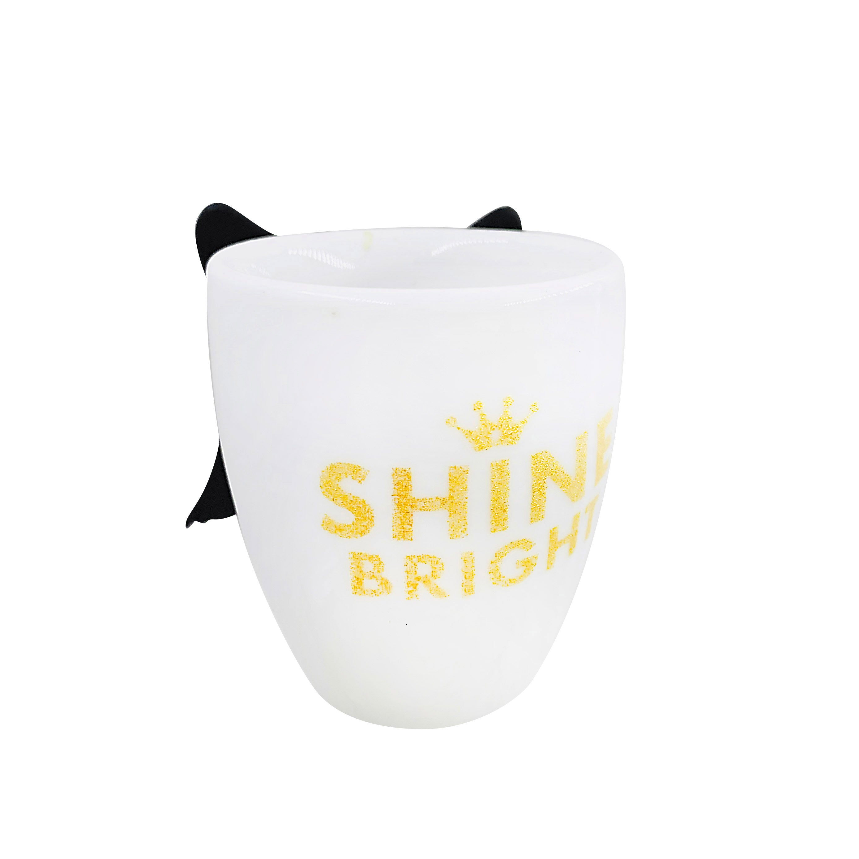 Inspirational Angel Cup - Shine Bright - Black Wings