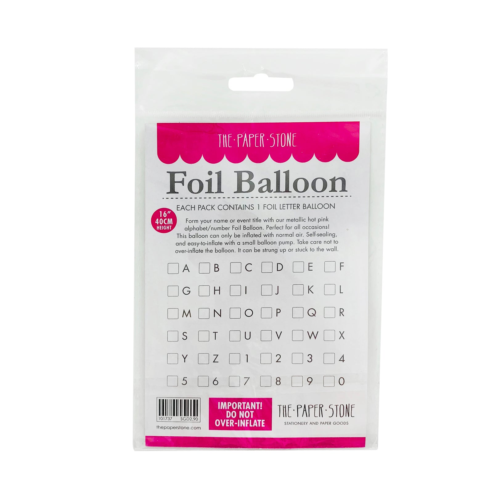 Metallic Silver Foil Balloon - Number 9