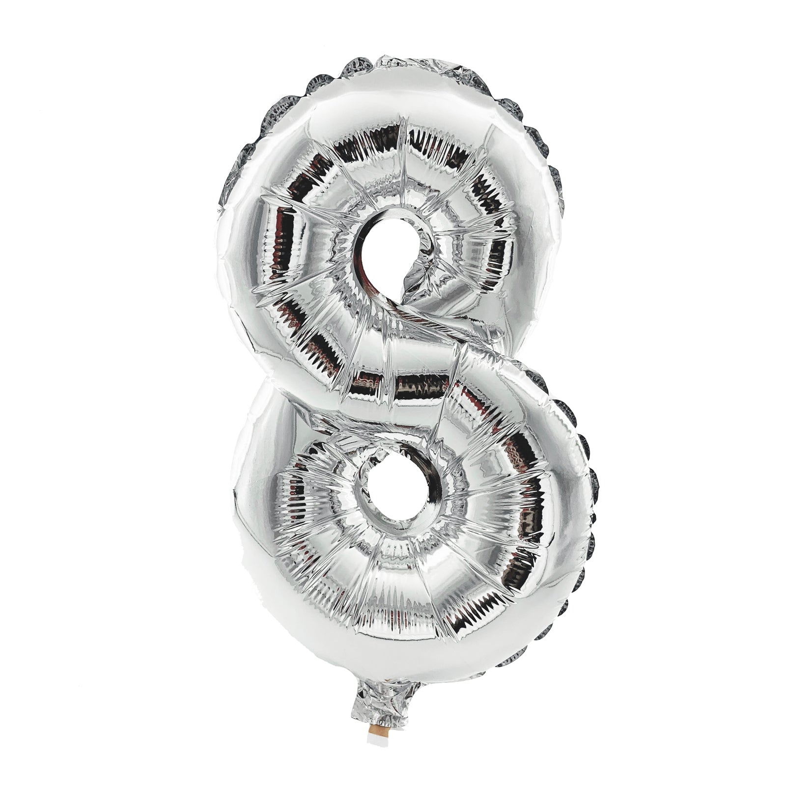 Metallic Silver Foil Balloon - Number 8